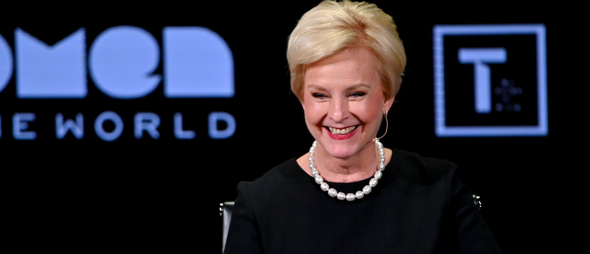 NEW YORK, NEW YORK - APRIL 12: Cindy McCain speaks during the 10th Anniversary Women In The World Summit at David H. Koch