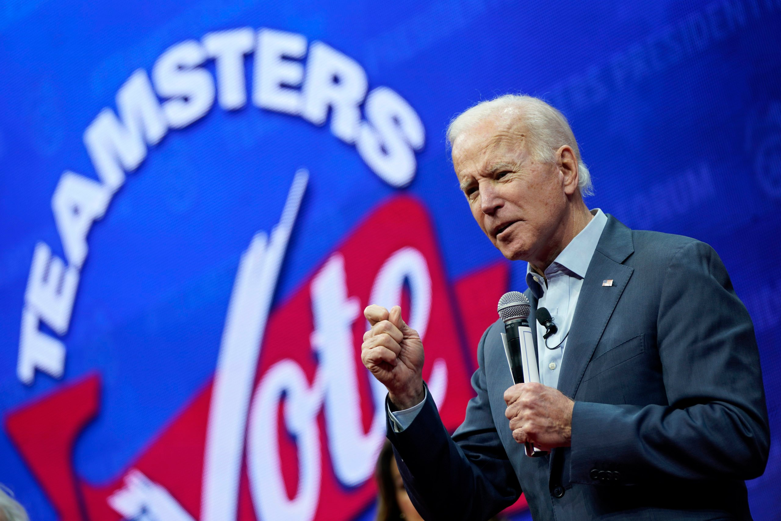 President Joe Biden speaks at the Teamsters Vote 2020 Presidential Candidate Forum on Dec. 7, 2019 in Cedar Rapids, Iowa. (Win McNamee/Getty Images)