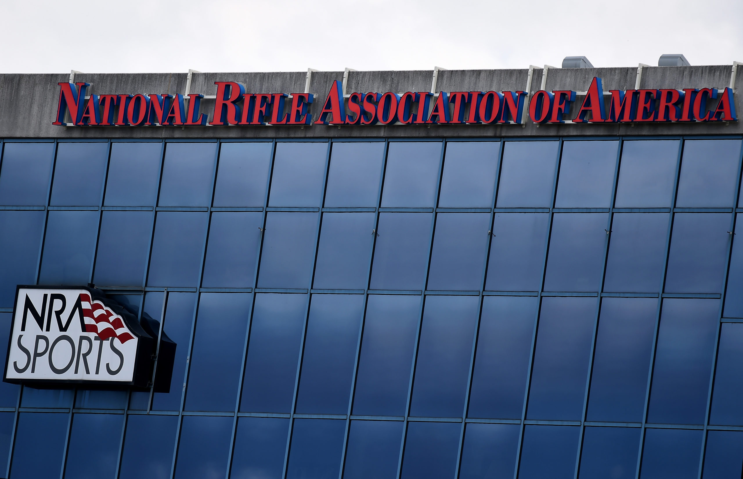 The National Riffle Association of America headquarters pictured on Aug. 6 in Fairfax, Virginia. (Olivier Douliery/AFP via Getty Images)