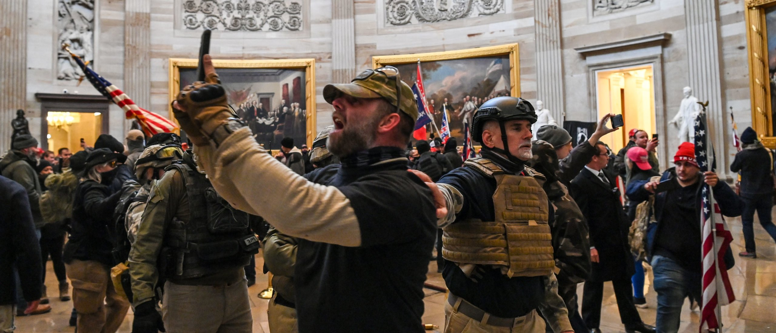 Rioters enter the Capitol Rotunda on Jan. 6 in Washington D.C. (Saul Loeb/AFP via Getty Images)