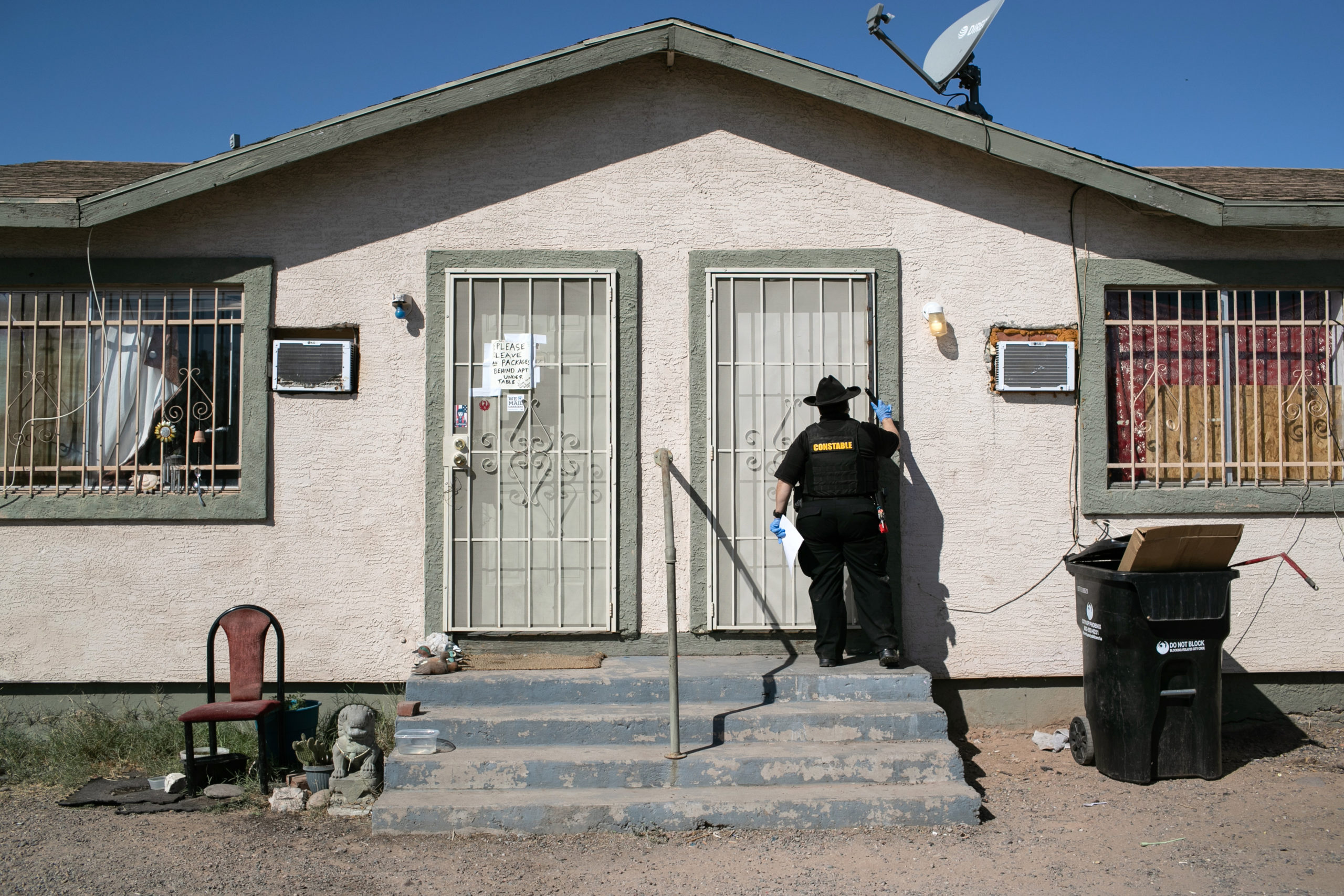 Officer tasked with serving evictions