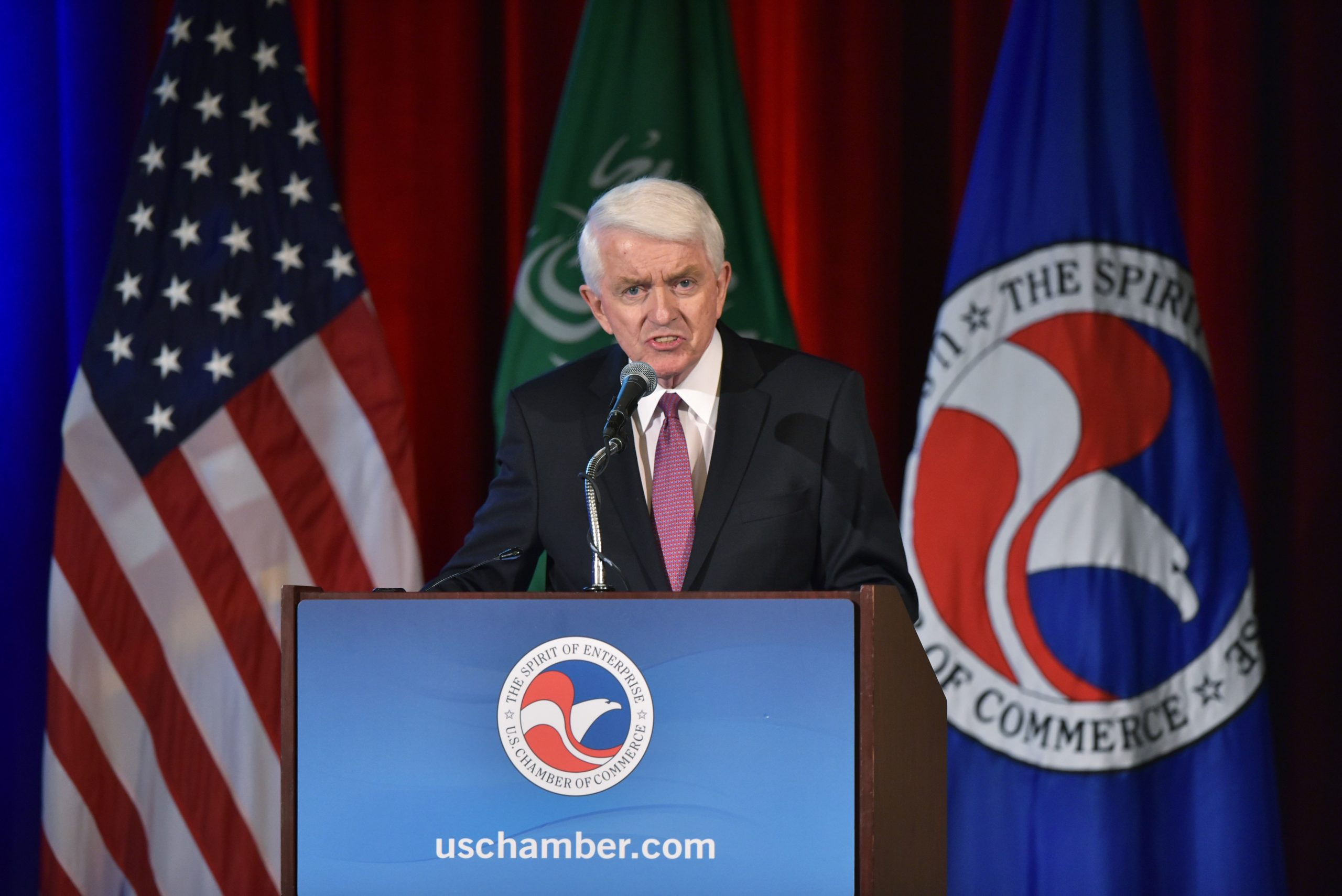 U.S. Chamber of Commerce President and CEO Tom Donohue speaks in 2017. (Mandel Ngan/AFP via Getty Images)
