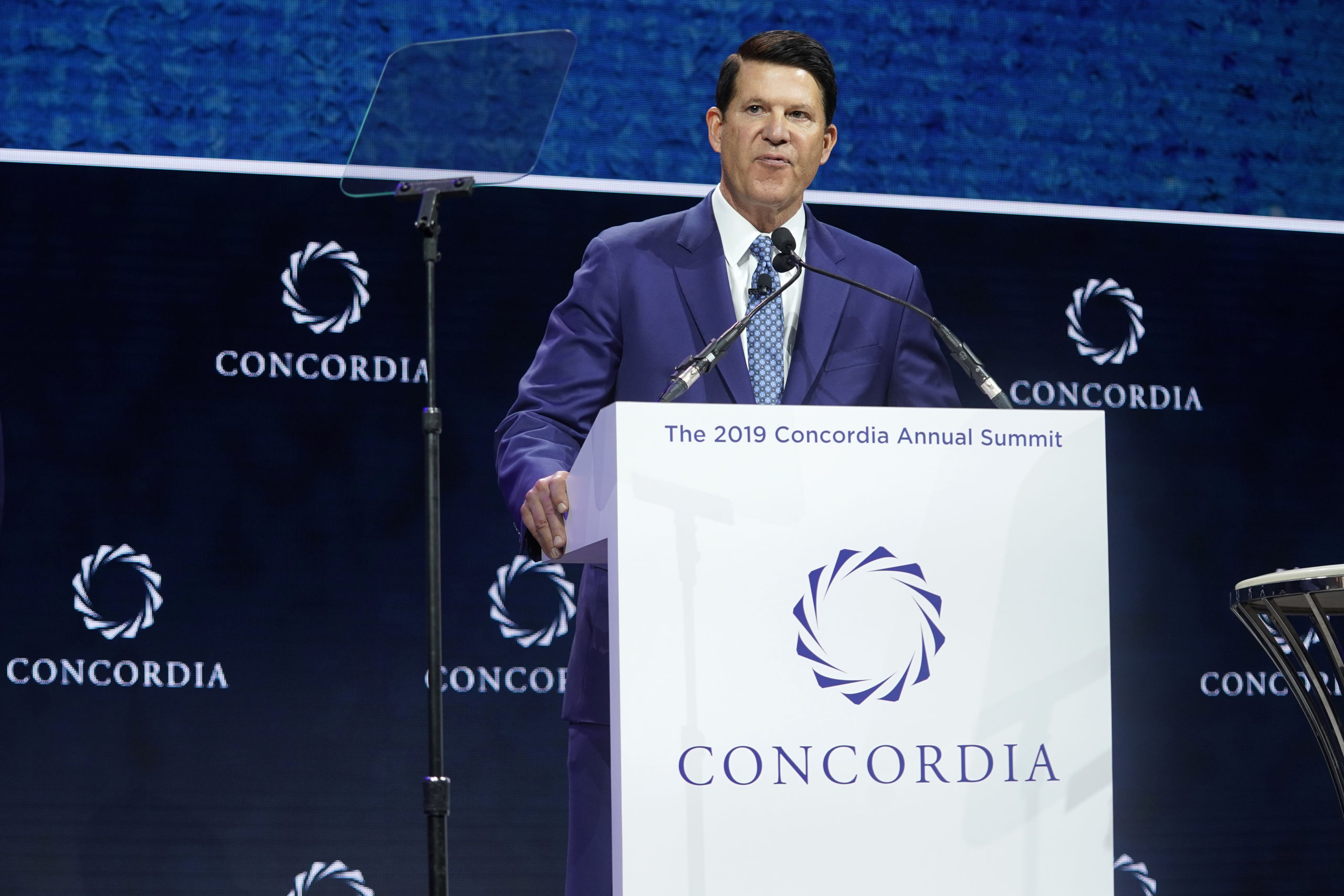 Keith Krach, Under Secretary For Economic Growth, Energy, and the Environment, U.S. Department Of State, speaks onstage during the 2019 Concordia Annual Summit. (Riccardo Savi/Getty Images for Concordia Summit)