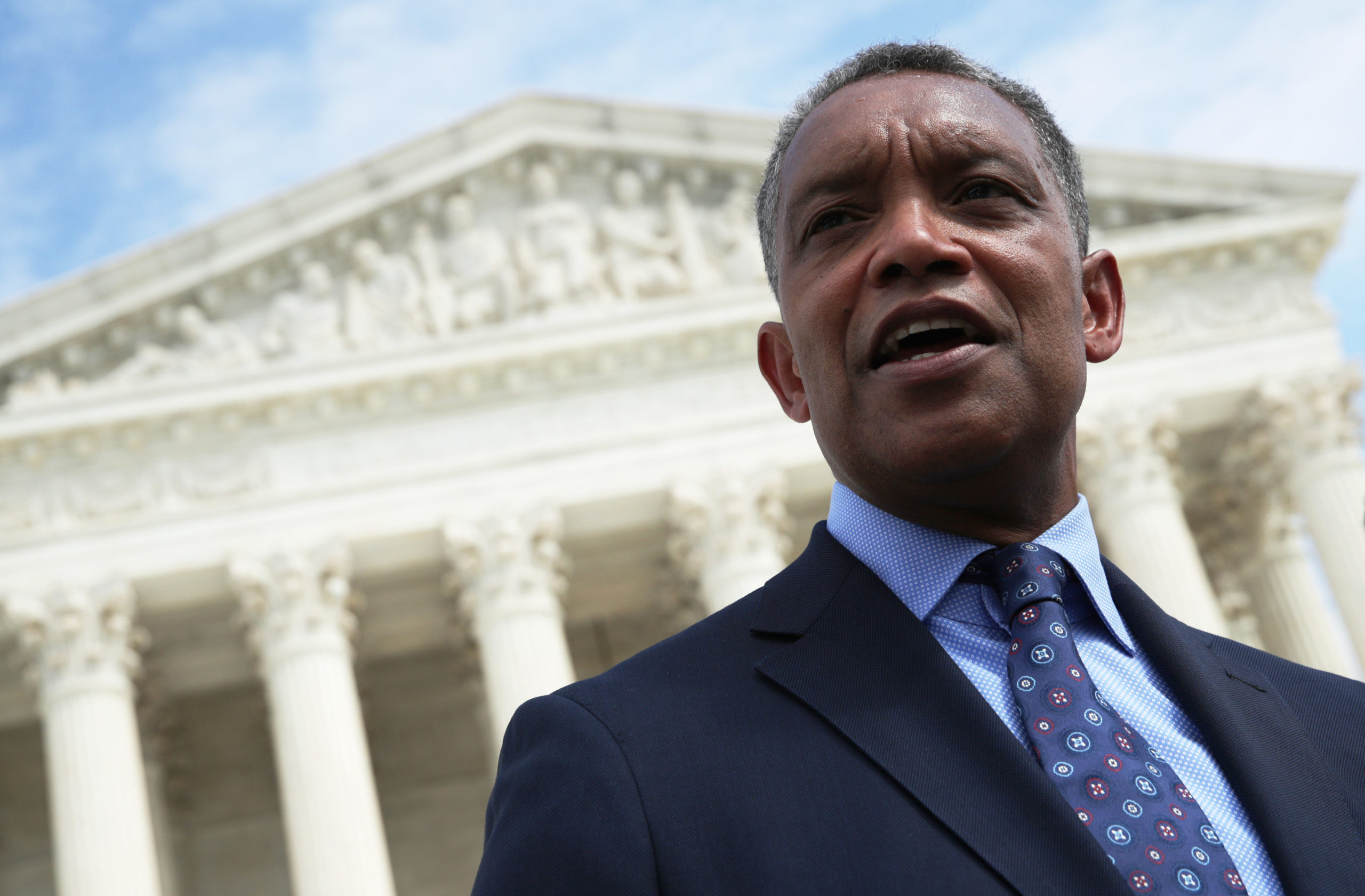 Washington, D.C. Attorney General Karl Racine speaks after a news conference in front of the Supreme Court in 2019. (Alex Wong/Getty Images)