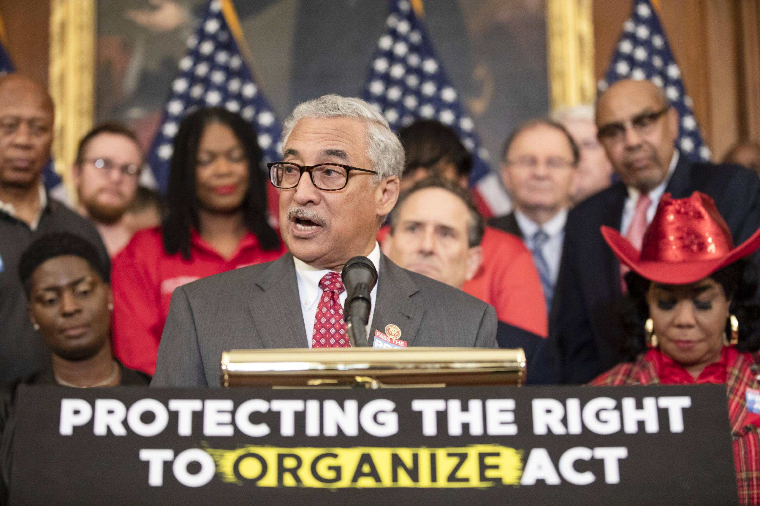 Rep. Bobby Scott, Chairman of the House Committee on Education and the Workforce, speaks during a press conference advocating for the PRO Act on Feb. 5, 2020 in Washington, D.C. (Samuel Corum/Getty Images)