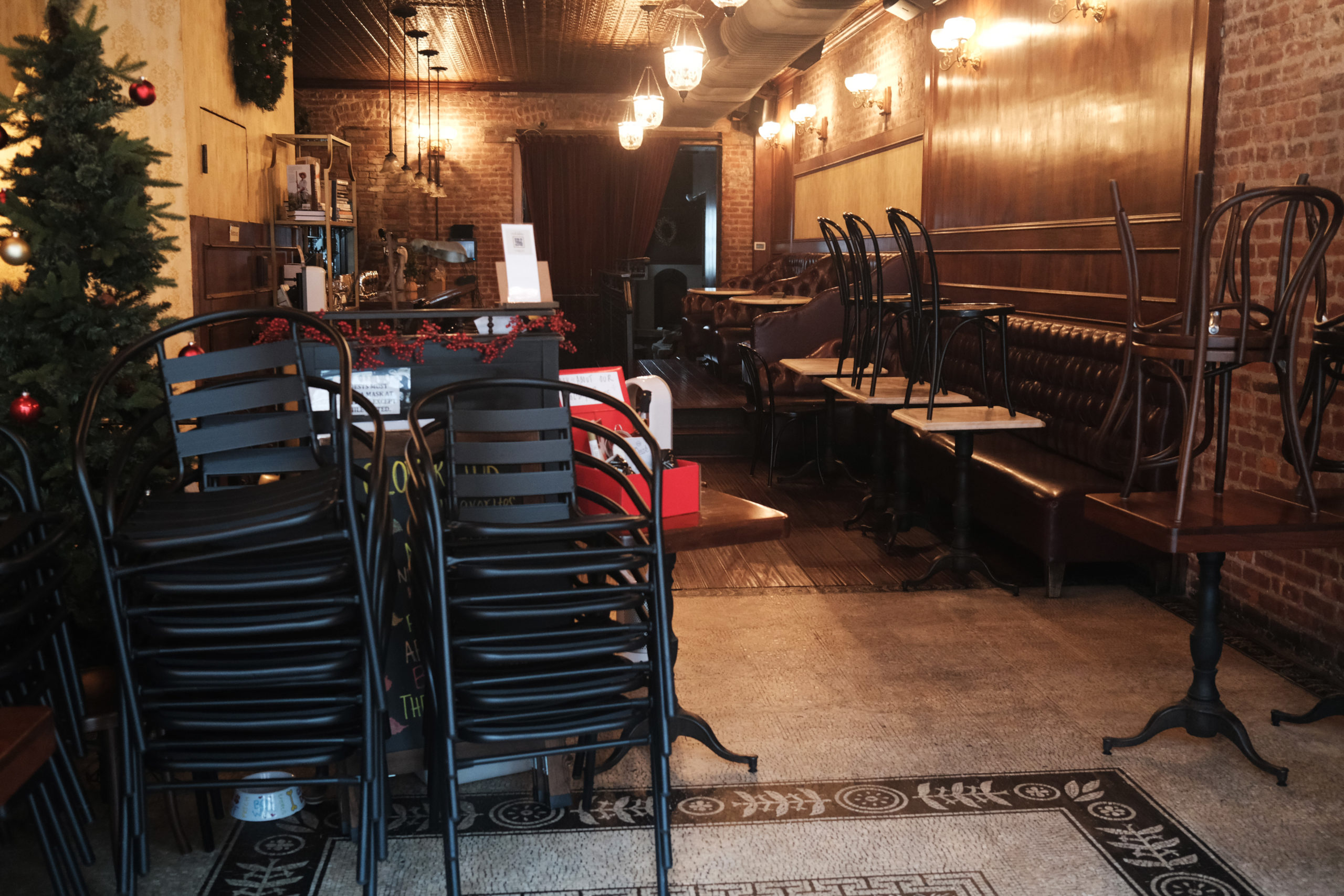 An empty restaurant stands in Brooklyn on Dec. 9 in New York City. (Spencer Platt/Getty Images)