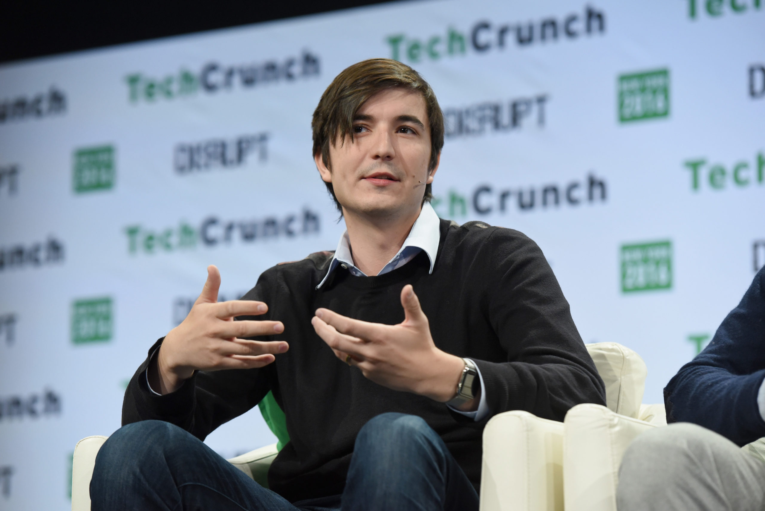 NEW YORK, NY - MAY 10: Co-founder and co-CEO of Robinhood Vladimir Tenev speaks onstage during TechCrunch Disrupt NY 2016 at Brooklyn Cruise Terminal on May 10, 2016 in New York City. (Photo by Noam Galai/Getty Images for TechCrunch)