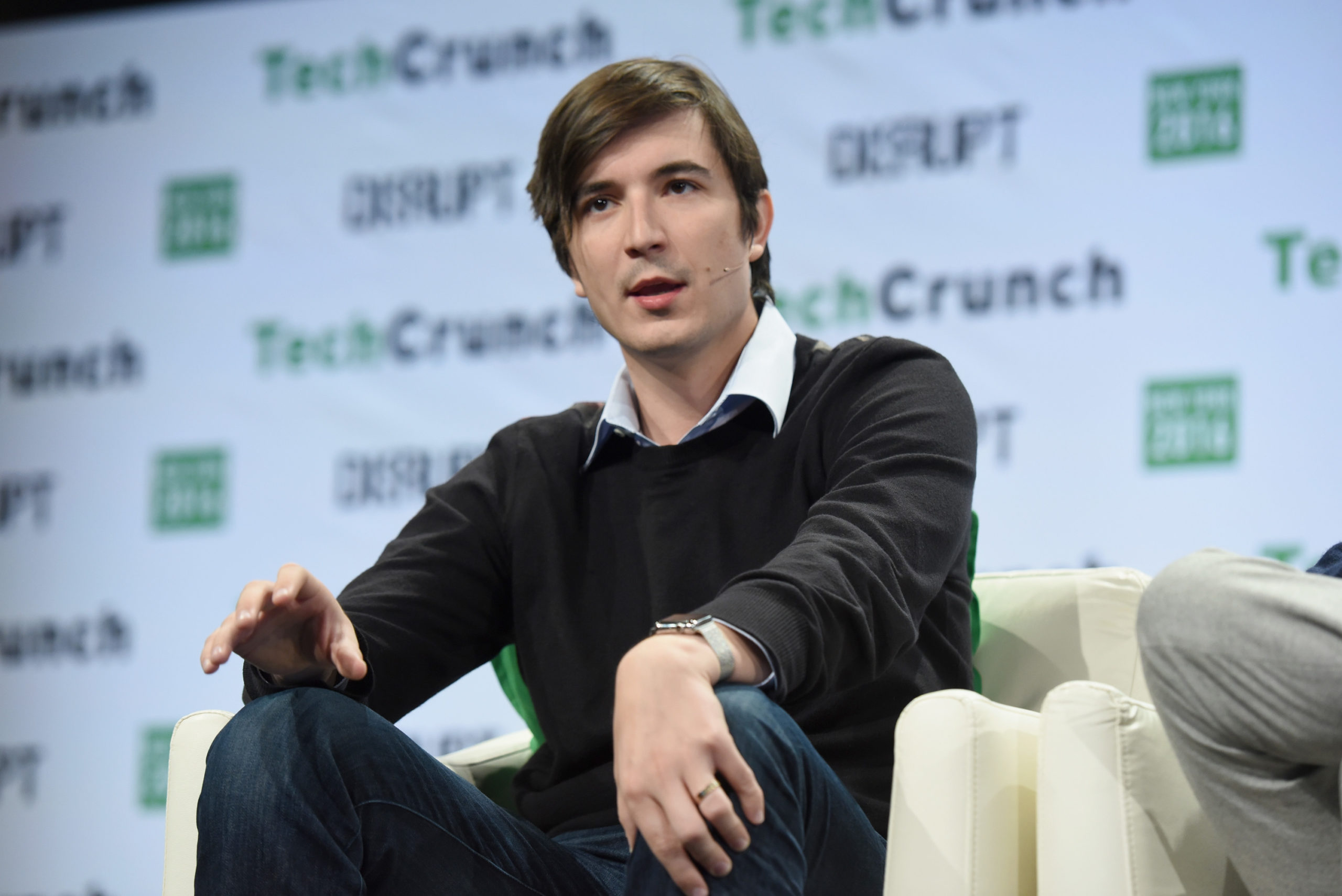 CEO of Robinhood Vlad Tenev speaks onstage during the annual TechCrunch conference in 2016 in New York City. (Noam Galai/Getty Images for TechCrunch)