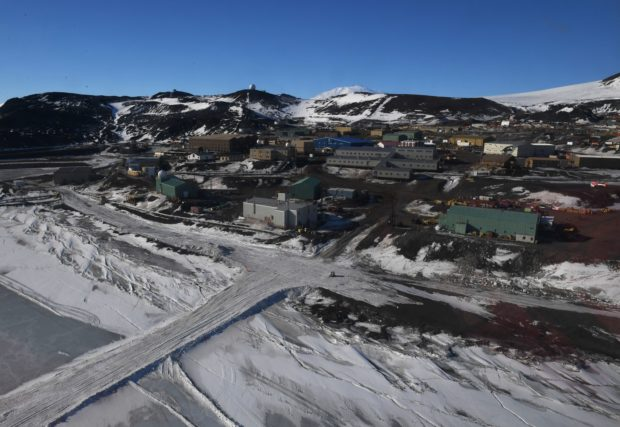 General view of the US McMurdo Station in Antarctica on November 11, 2016. Kerry is travelling to Antarctica, New Zealand, Oman, the United Arab Emirates, Morocco and will attend the APEC summit in Peru later in the month. / AFP / AFP POOL / MARK RALSTON (Photo credit should read MARK RALSTON/AFP via Getty Images)