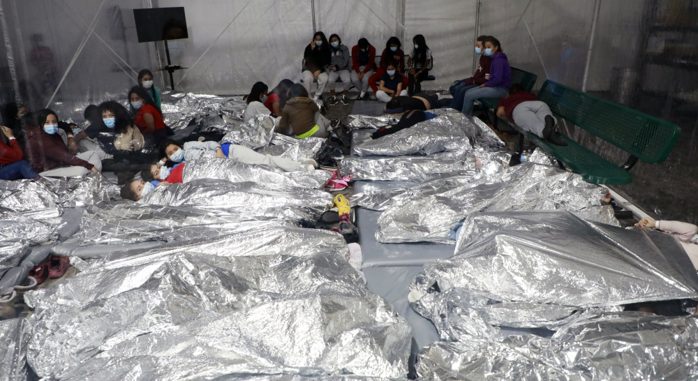 Temporary processing facilities in Donna, Texas, safely processes family units and unaccompanied alien children (UACs) encountered and in the custody of the U.S. Border Patrol. The facility will bolsters processing capacity in the RGV while the permanent Centralized Processing Center in McAllen is renovated taken on March 17, 2021. (U.S. Customs and Border Protection Office of Public Affairs - Visual Communications / Jaime Rodriguez Sr)