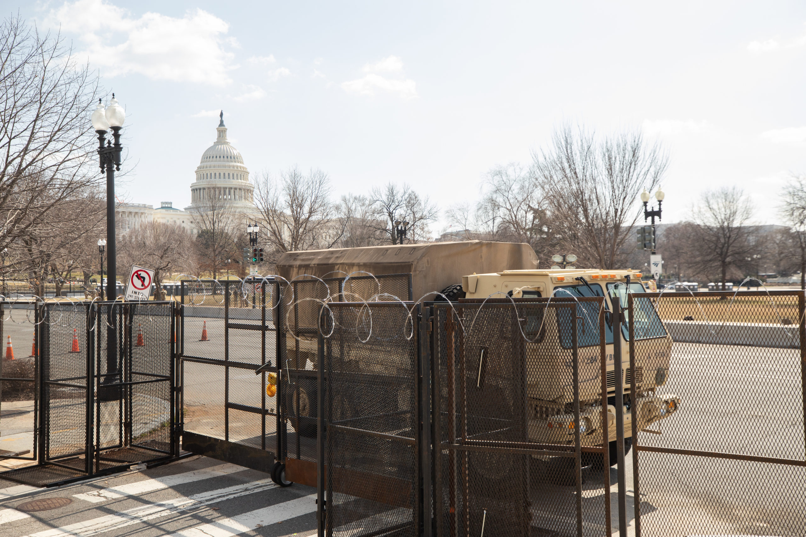 The National Guard maintained a heavy presence after a potential attack by an unnamed militia group was reported by the U.S. Capitol Police in Washington, D.C. on March 4, 2021. (Kaylee Greenlee - Daily Caller News Foundation)