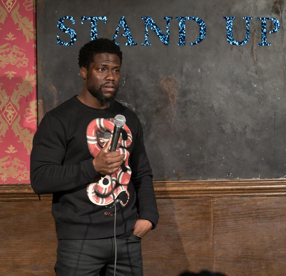 Kevin Hart on stage at Stand Up New York