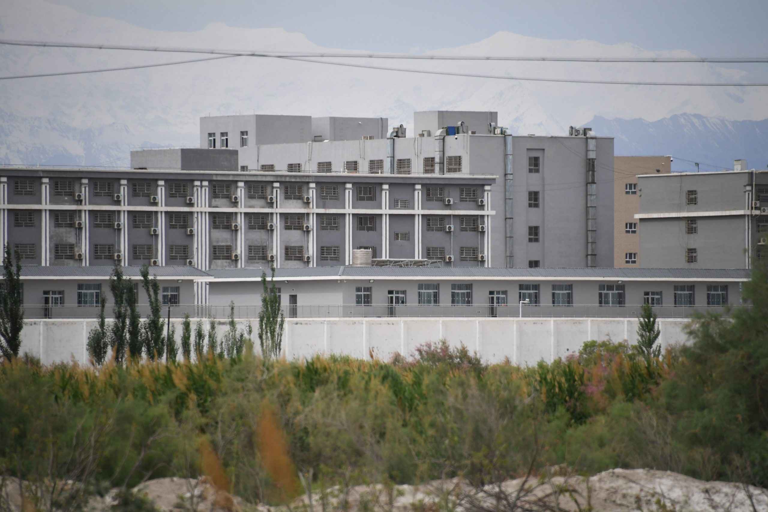 A facility believed to be a re-education camp where mostly Muslim ethnic minorities are detained is pictured in China's northwestern Xinjiang region in 2019. (Greg Baker/AFP via Getty Images)