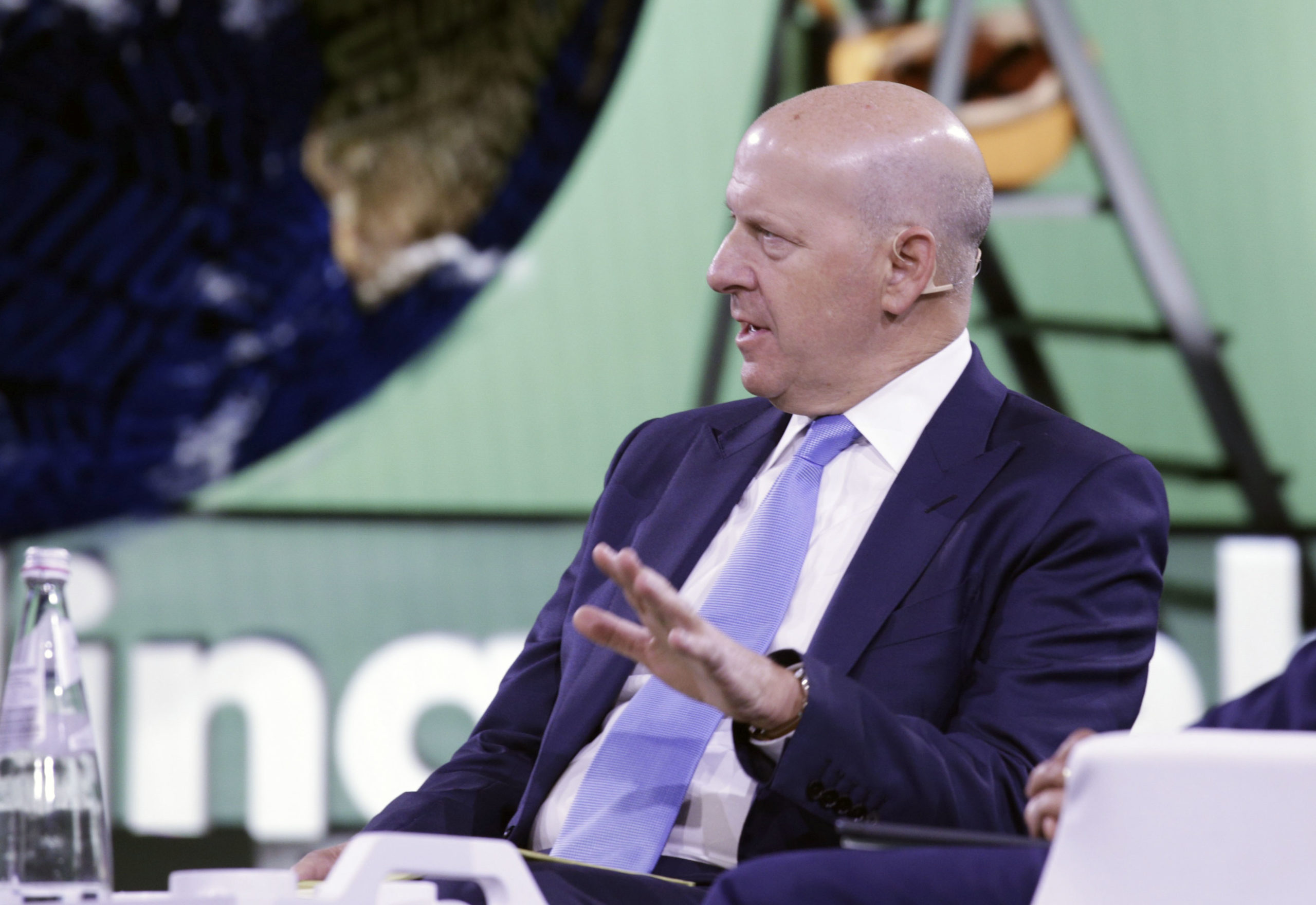 David Solomon, chairman and CEO of Goldman Sachs, speaks during the Bloomberg Global Business Forum in New York on Sept. 25, 2019. (Kena Betancur/AFP via Getty Images)