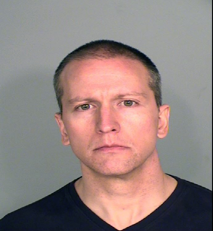 In this handout provided by Ramsey County Sheriff's Office, former Minneapolis police officer Derek Chauvin poses for a mugshot after being charged in the death of George Floyd. (Ramsey County Sheriff's Office via Getty Images)