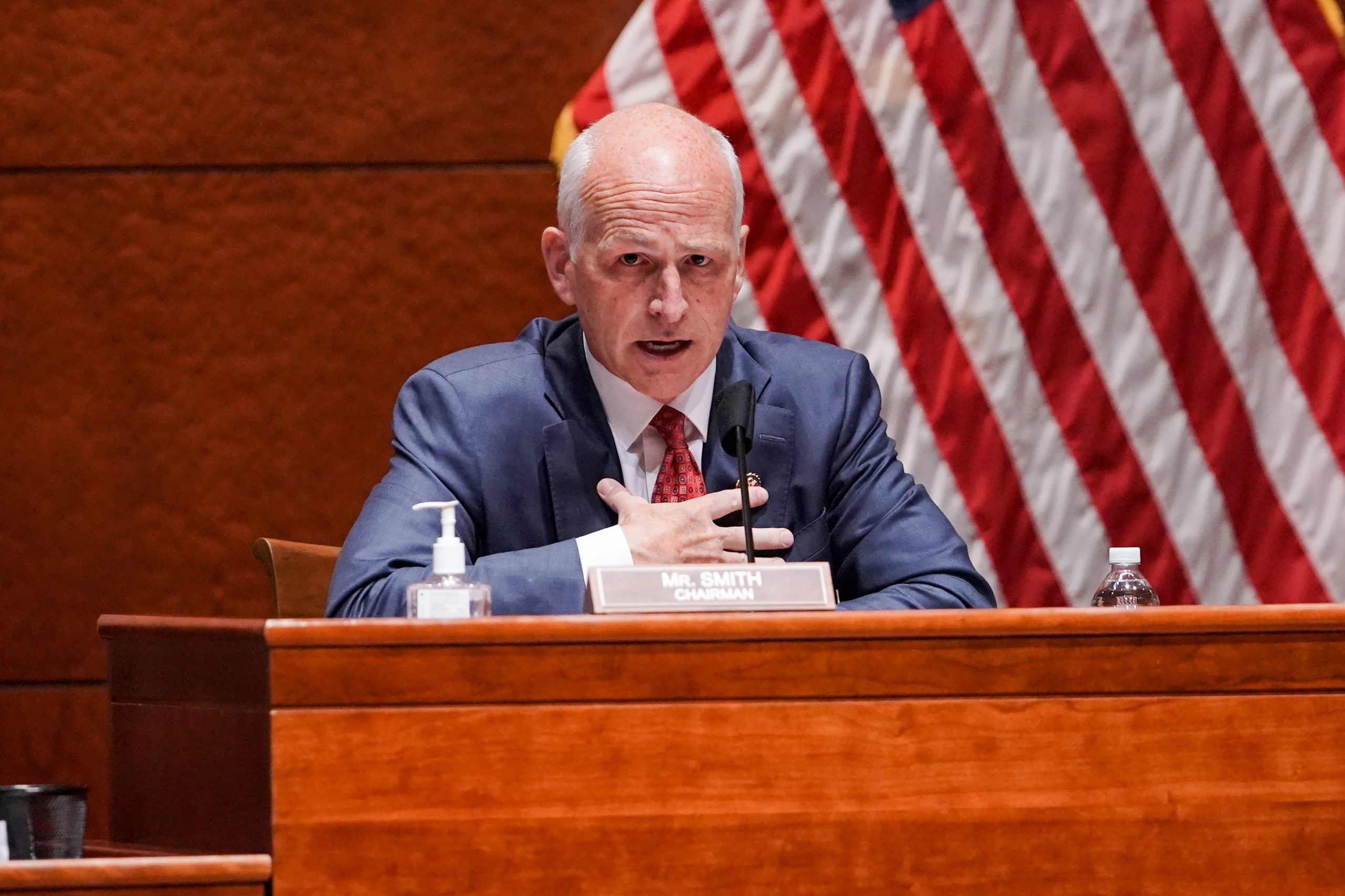House Armed Services Committee Chairman Adam Smith speaks during a hearing on July 9. (Greg Nash/Pool/AFP via Getty Images)