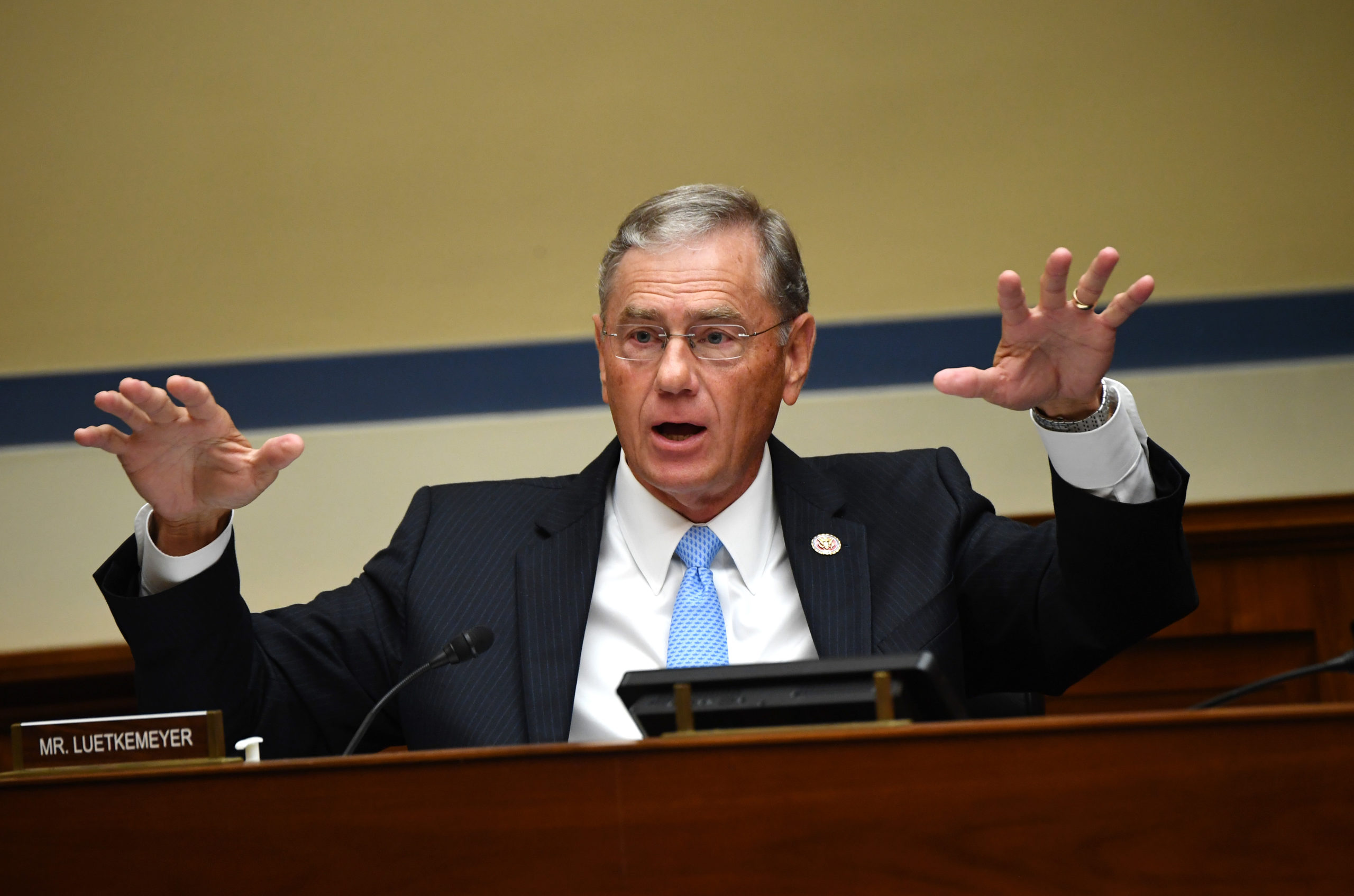 Rep. Blaine Luetkemeyer speaks during a hearing on the pandemic in July. (Kevin Dietsch/Pool/AFP via Getty Images)