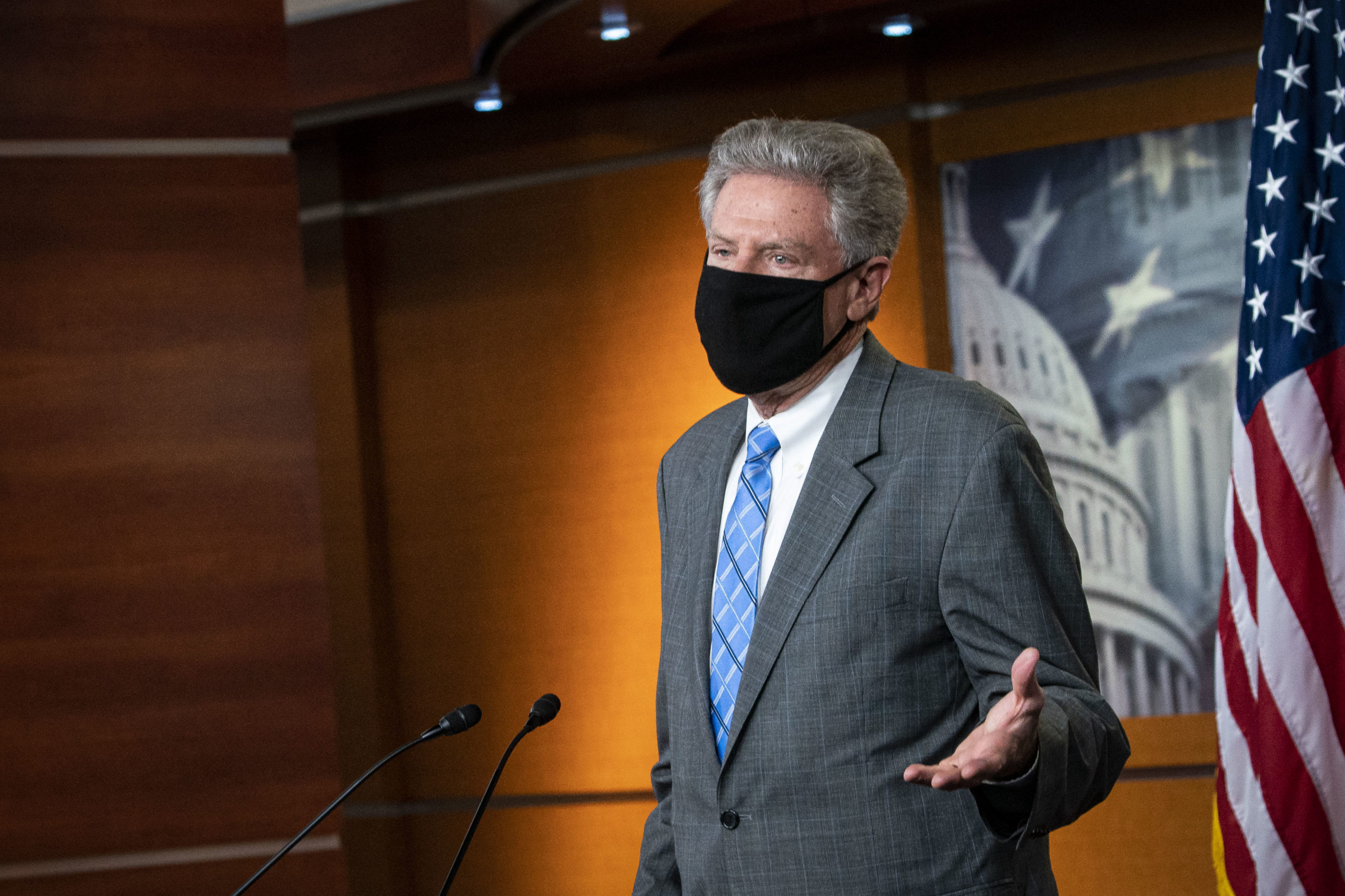 House Energy and Commerce Committee Chairman Frank Pallone speaks at a news conference. (Al Drago/Getty Images)