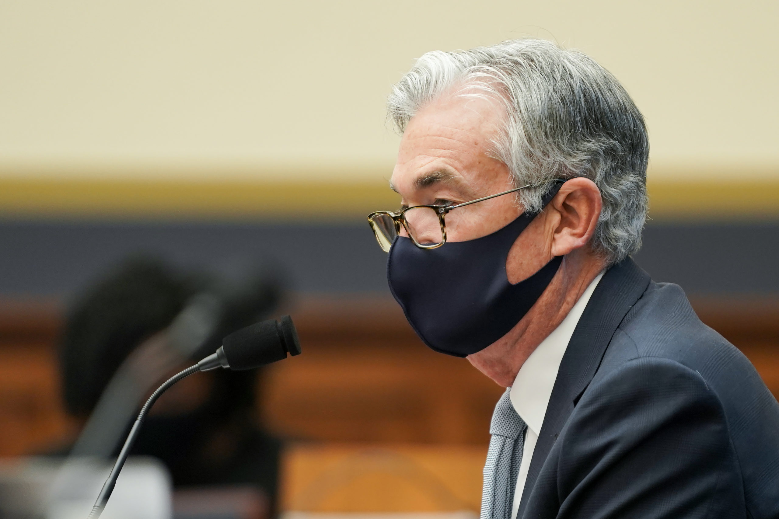 Federal Reserve Chair Jerome Powell listens to a question during a hearing on Dec. 2. (Getty Images)