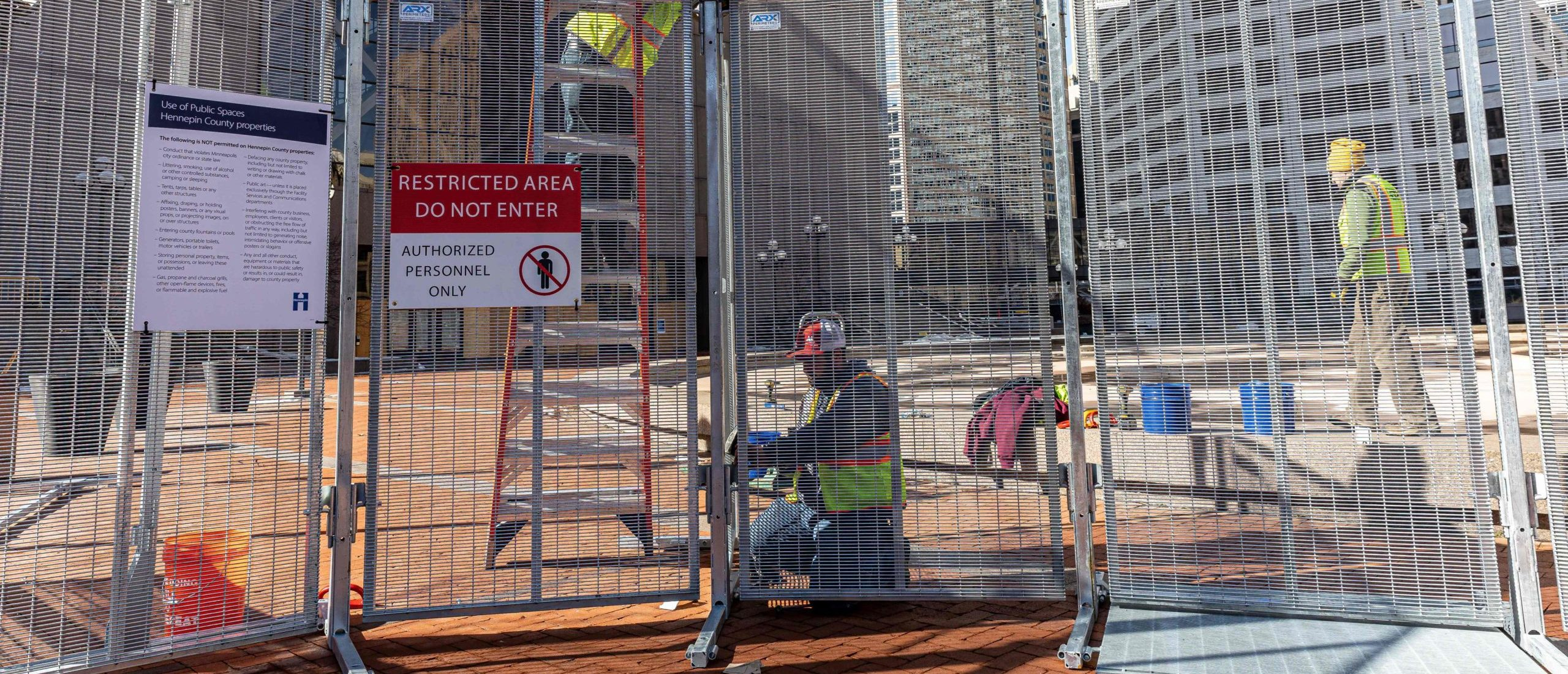 Minneapolis Spends Nearly $650,000 On Fences To Protect City Buildings From Vandalism During Derek Chauvin Trial
