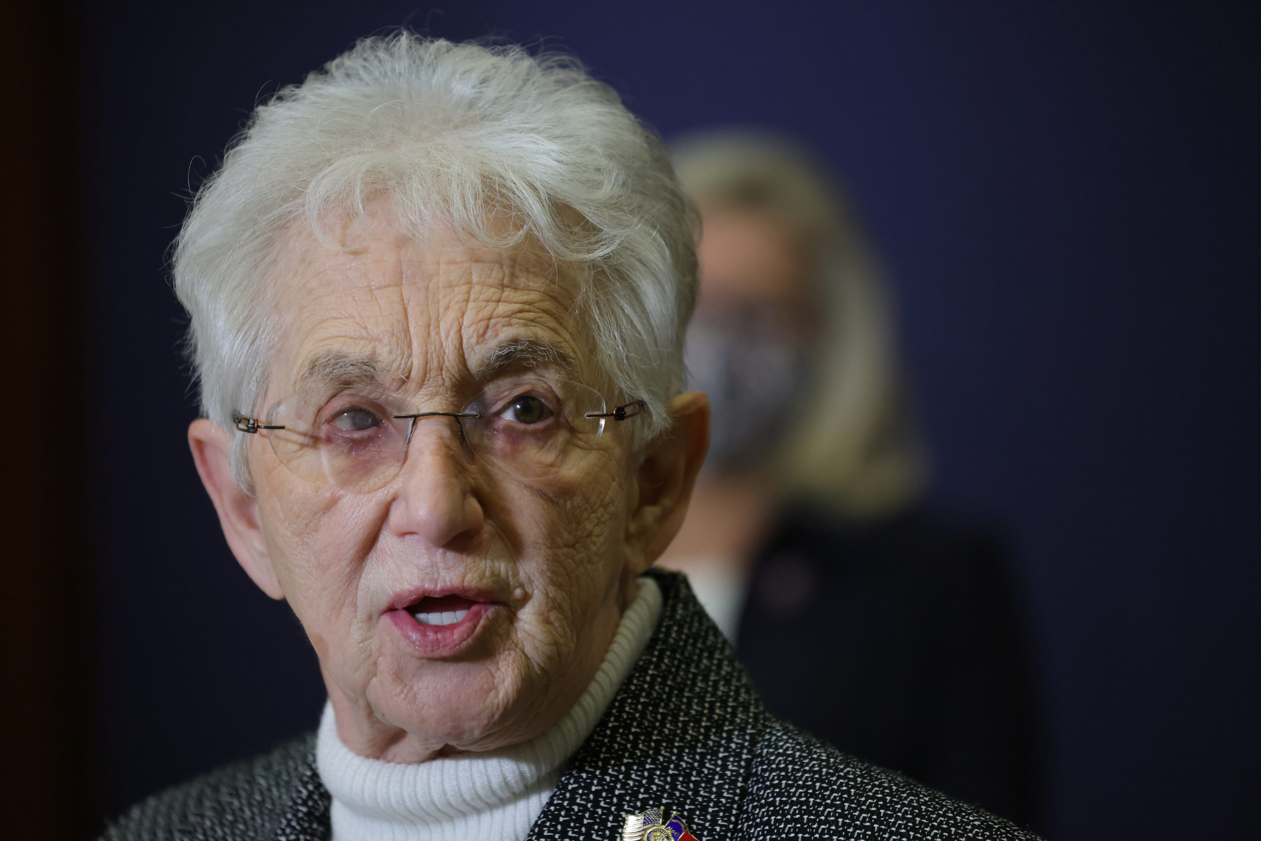 Rep. Virginia Foxx speaks at a press conference Tuesday. (Win McNamee/Getty Images)