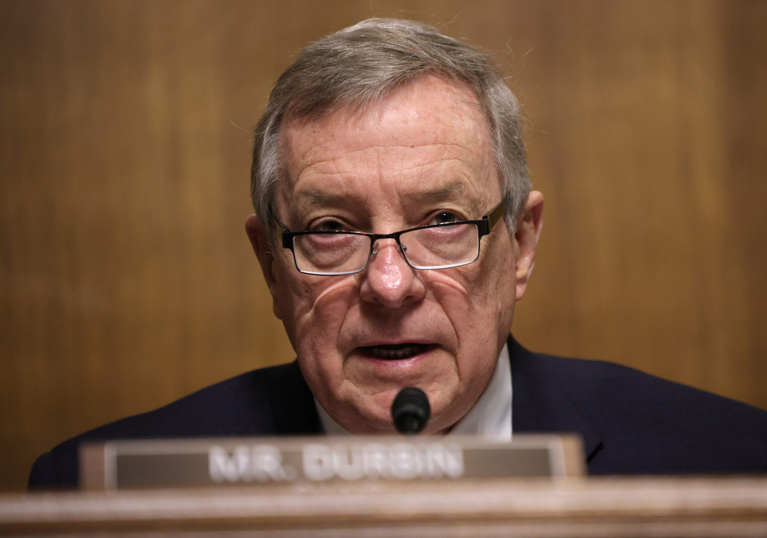 Committee Chair Sen. Dick Durbin (D-IL) speaks during a Senate Judiciary Committee hearing March 17, 2021 in Washington, DC. (Win McNamee/Getty Images)