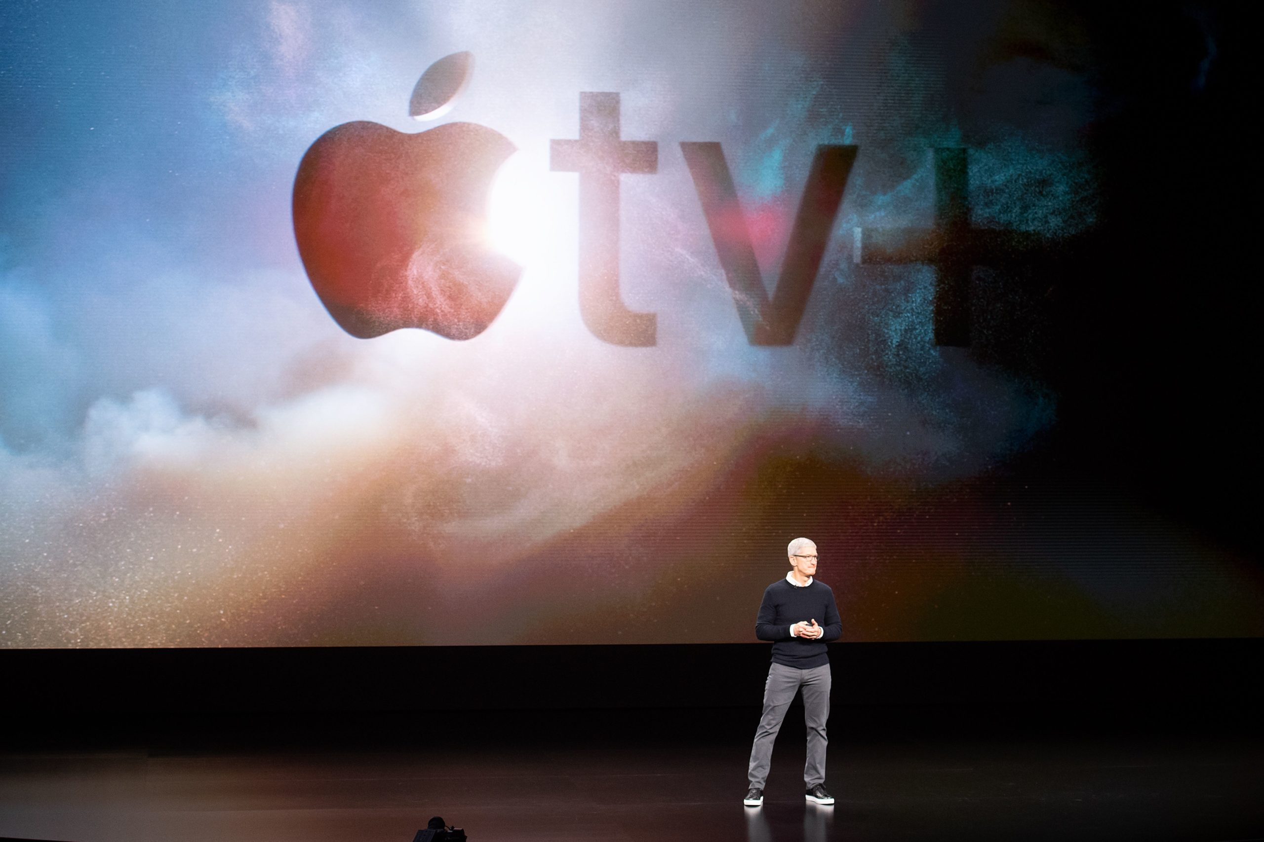 Apple CEO Tim Cook speaks during an event in 2019 in Cupertino, California. (Noah Berger/AFP via Getty Images)