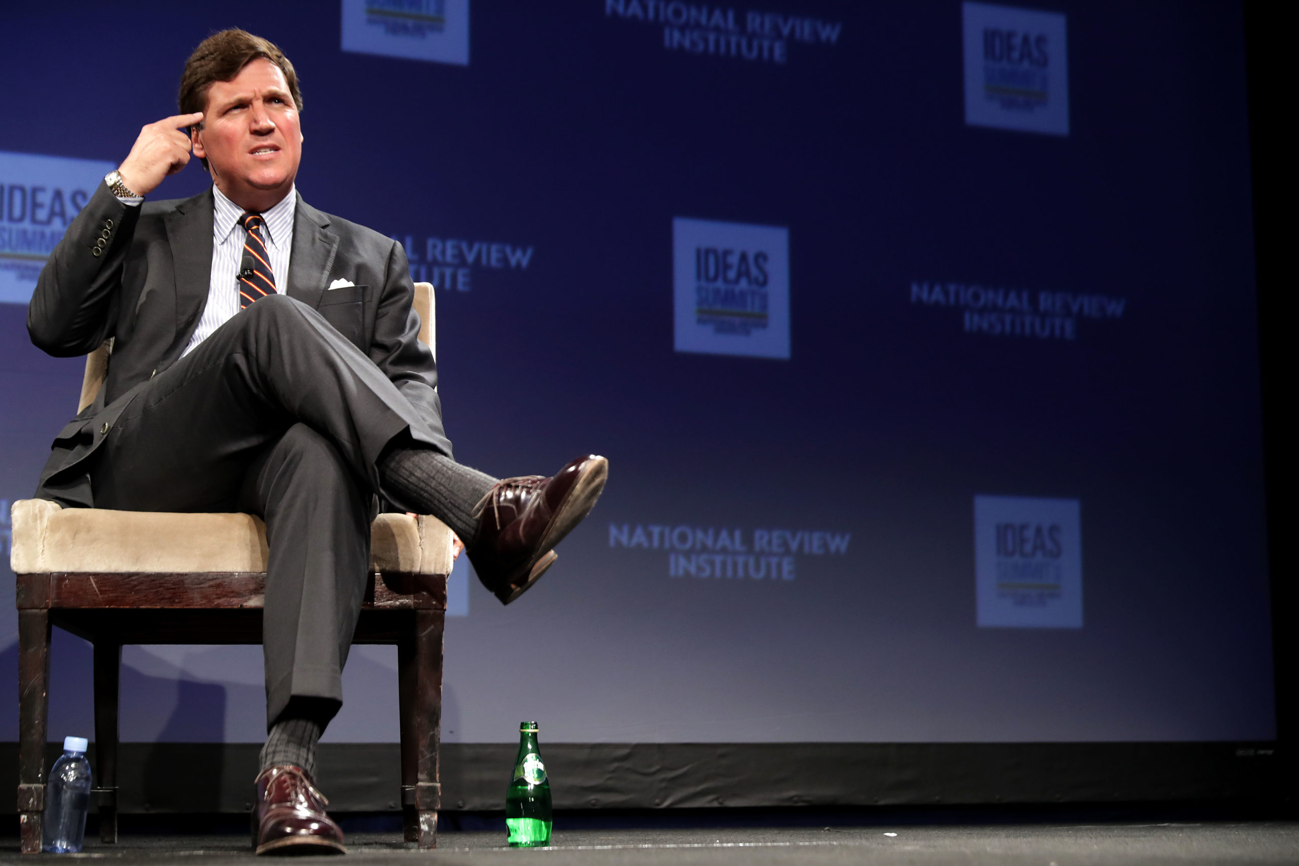 Fox News host Tucker Carlson discusses 'Populism and the Right' during the National Review Institute's Ideas Summit at the Mandarin Oriental Hotel March 29, 2019 in Washington, DC. (Chip Somodevilla/Getty Images)