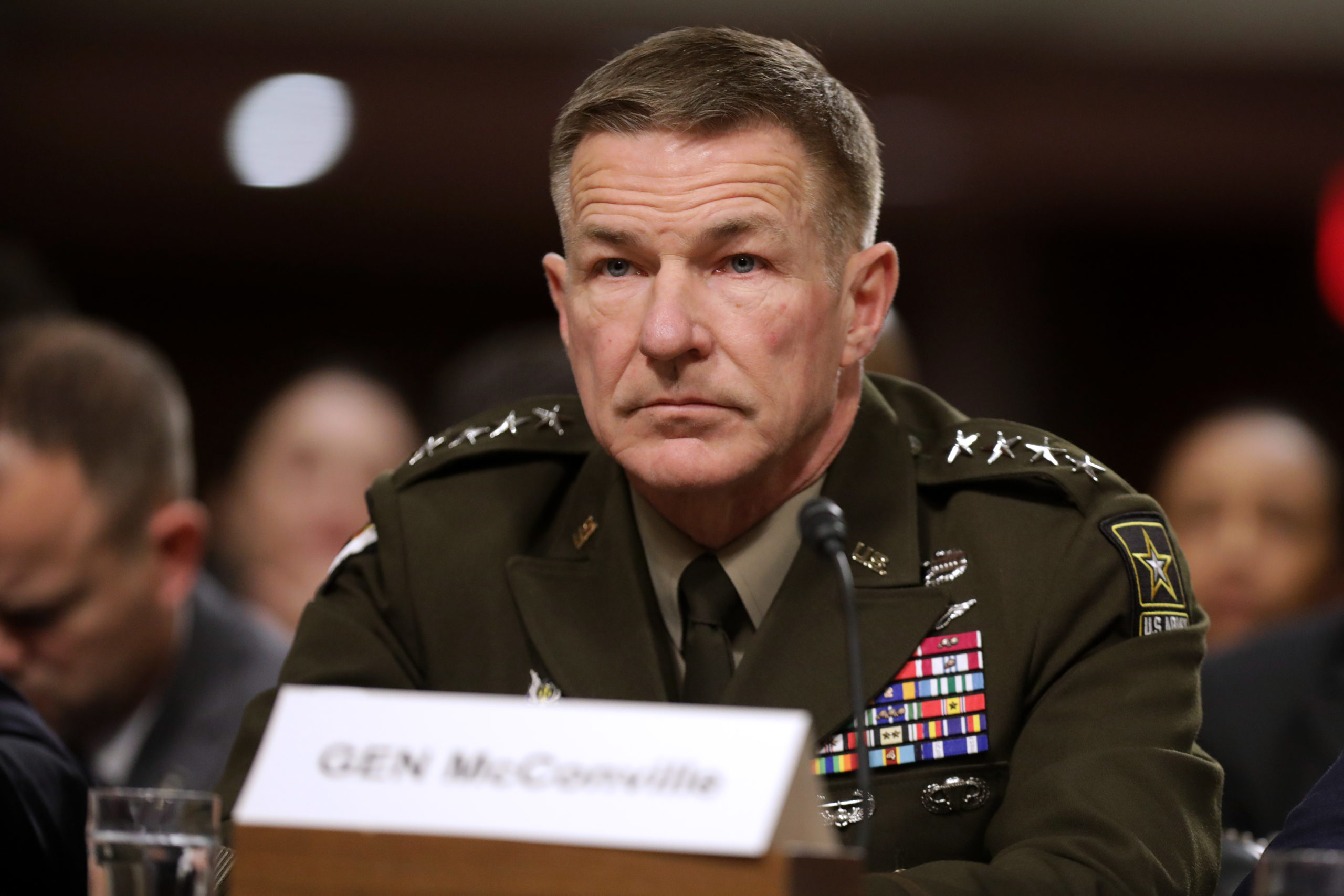 WASHINGTON, DC - DECEMBER 03: Army Chief of Staff Gen. James McConville testifies before the Senate Armed Services Committee in the Dirksen Senate Office Building on Capitol Hill December 03, 2019 in Washington, DC. (Photo by Chip Somodevilla/Getty Images)