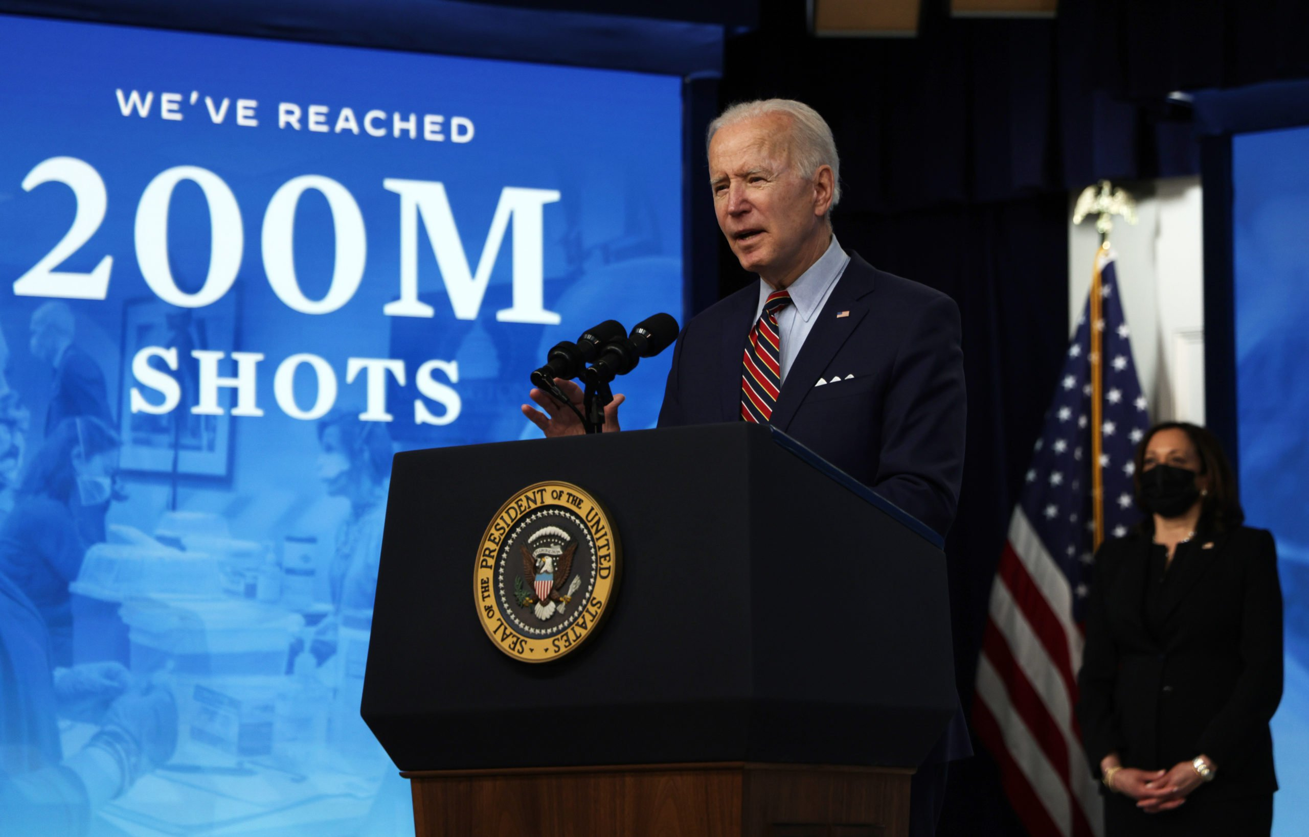 President Joe Biden makes remarks at the White House on Wednesday. (Alex Wong/Getty Images)