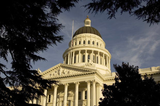 SACRAMENTO, CA - An exterior of the state capitol is shown on January 5, 2006 in Sacramento, California. (David Paul Morris/Getty Images)