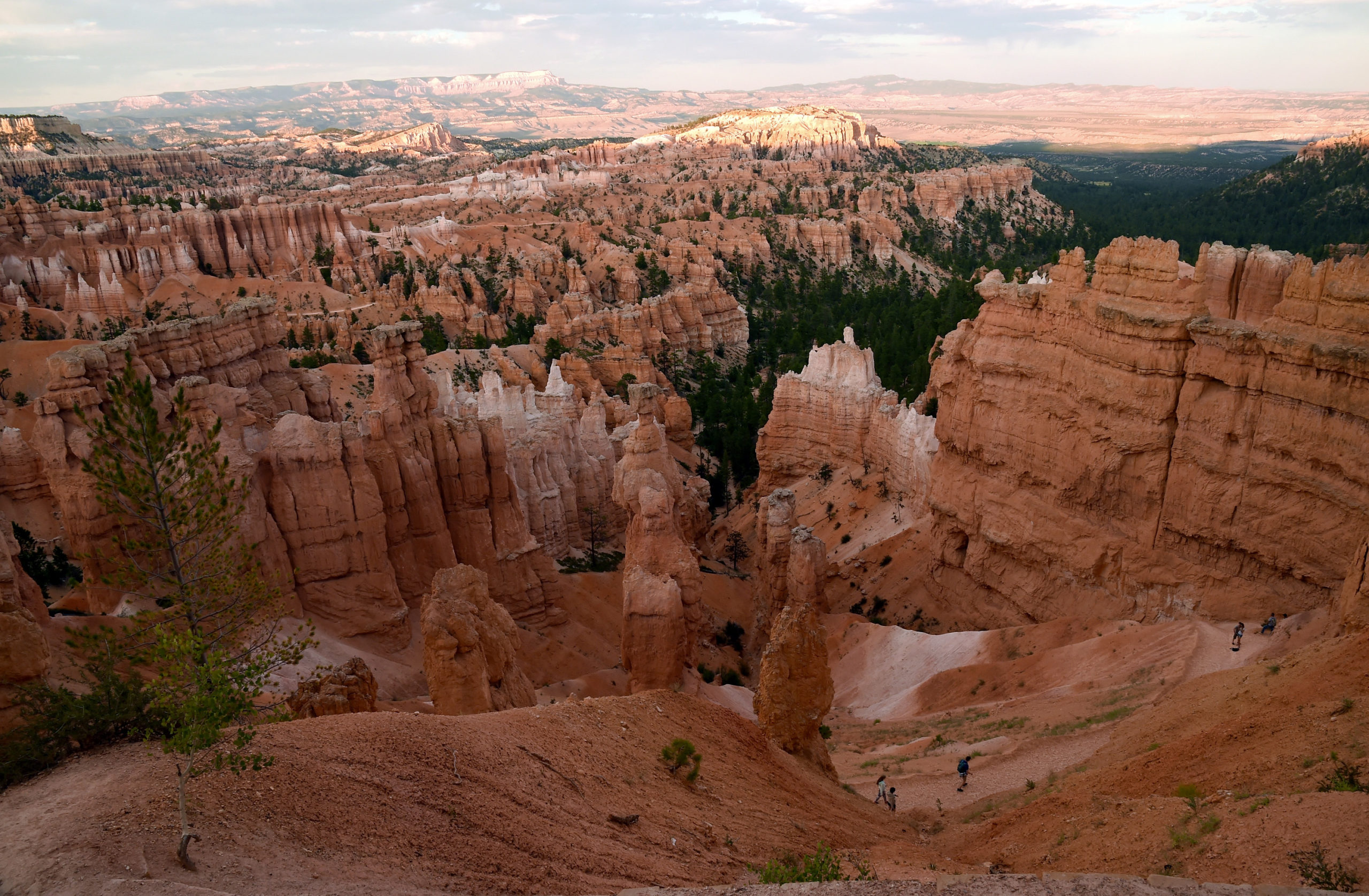 BRYCE CANYON NATIONAL PARK, UT - AUGUST 12: Visitors walk along the Navajo Loop Trail in front of hoodoos as viewed from Sunset Point overlooking Bryce Amphitheater on August 12, 2016 in Bryce Canyon National Park, Utah. (Photo by Ethan Miller/Getty Images)
