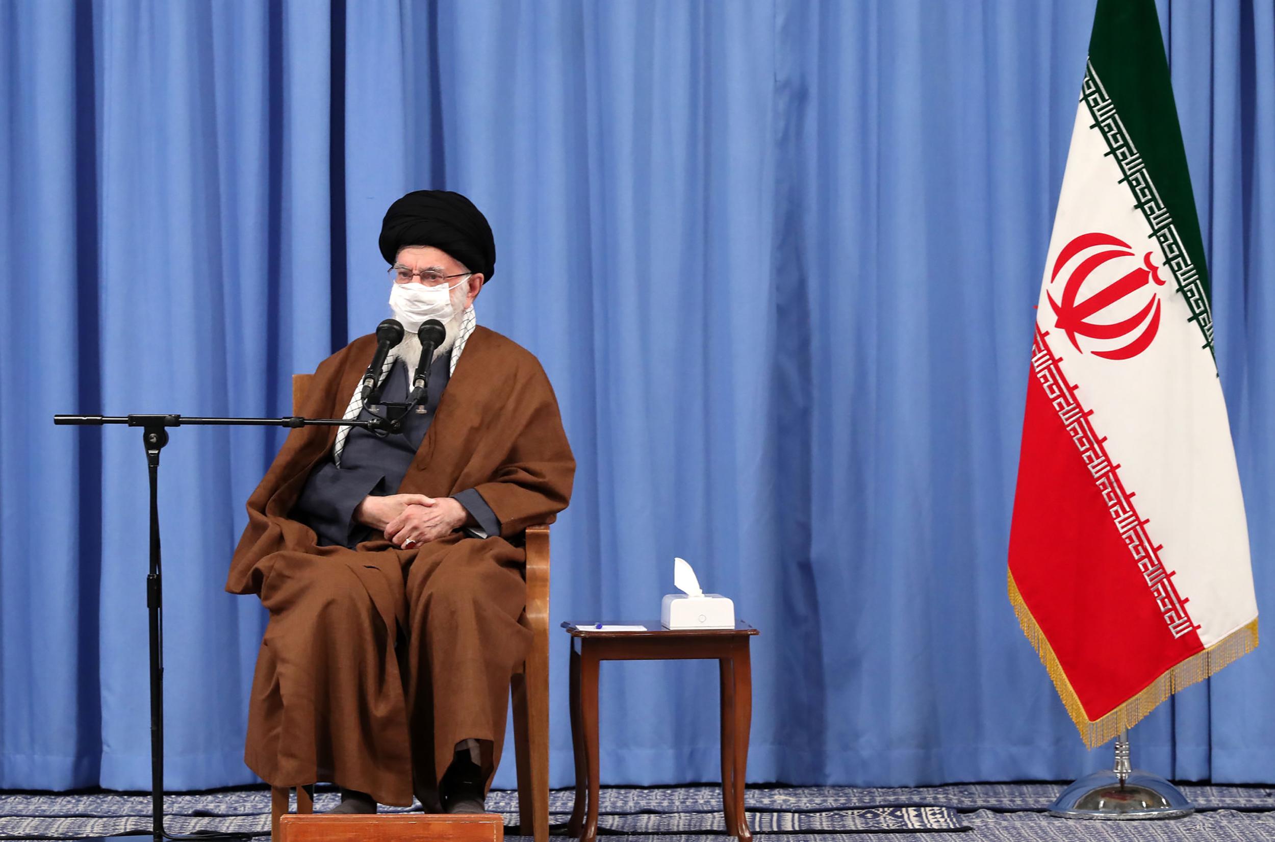 Iran's Supreme Leader Ayatollah Ali Khamenei attends a meeting on Oct. 24. (Khamenei.Ir/AFP via Getty Images)