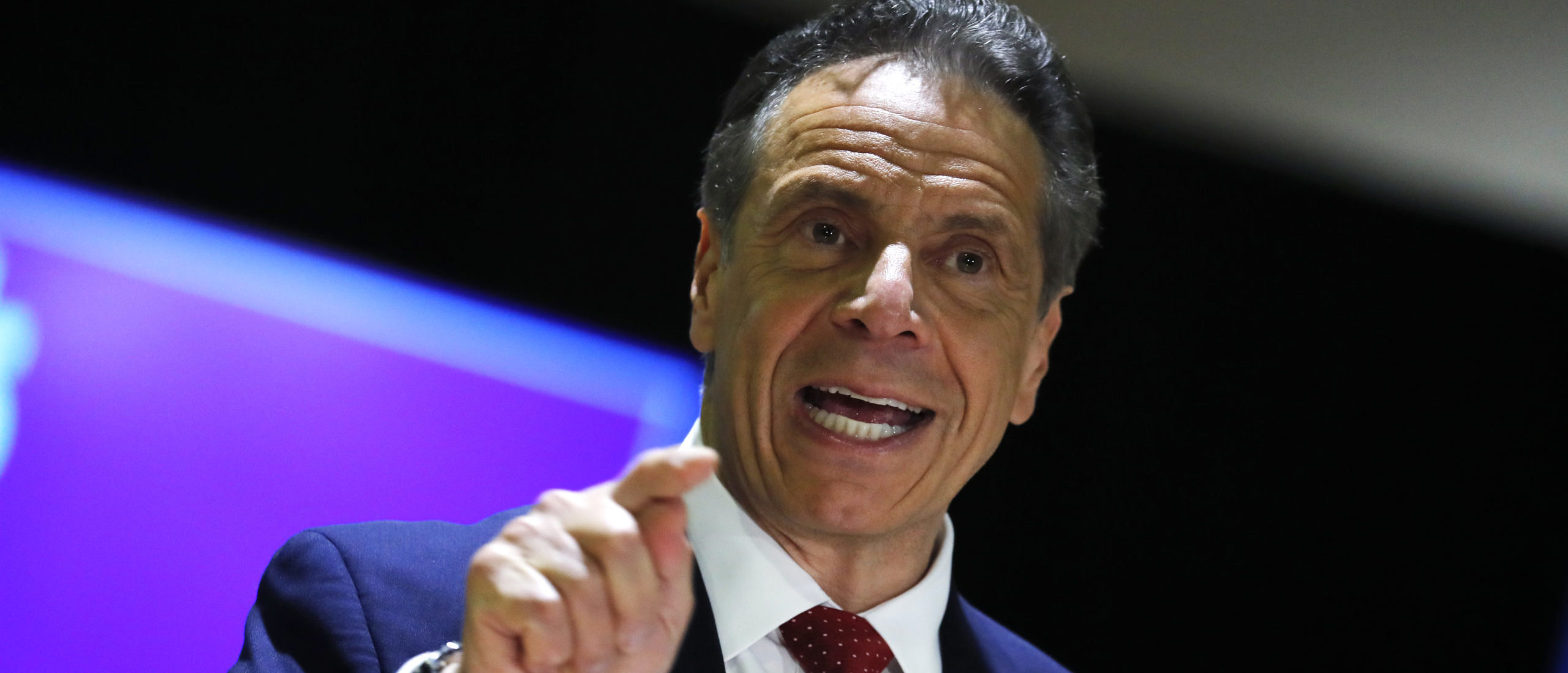 NEW YORK, NEW YORK - APRIL 23: New York Governor Andrew Cuomo speaks at an event to announce five new walk-in pop-up vaccination sites for New York City Bodega, grocery store and supermarket workers amid the coronavirus disease (COVID-19) pandemic, in the Harlem section of Manhattan on April 23, 2021 in New York City. (Photo by Mike Segar-Pool/Getty Images)