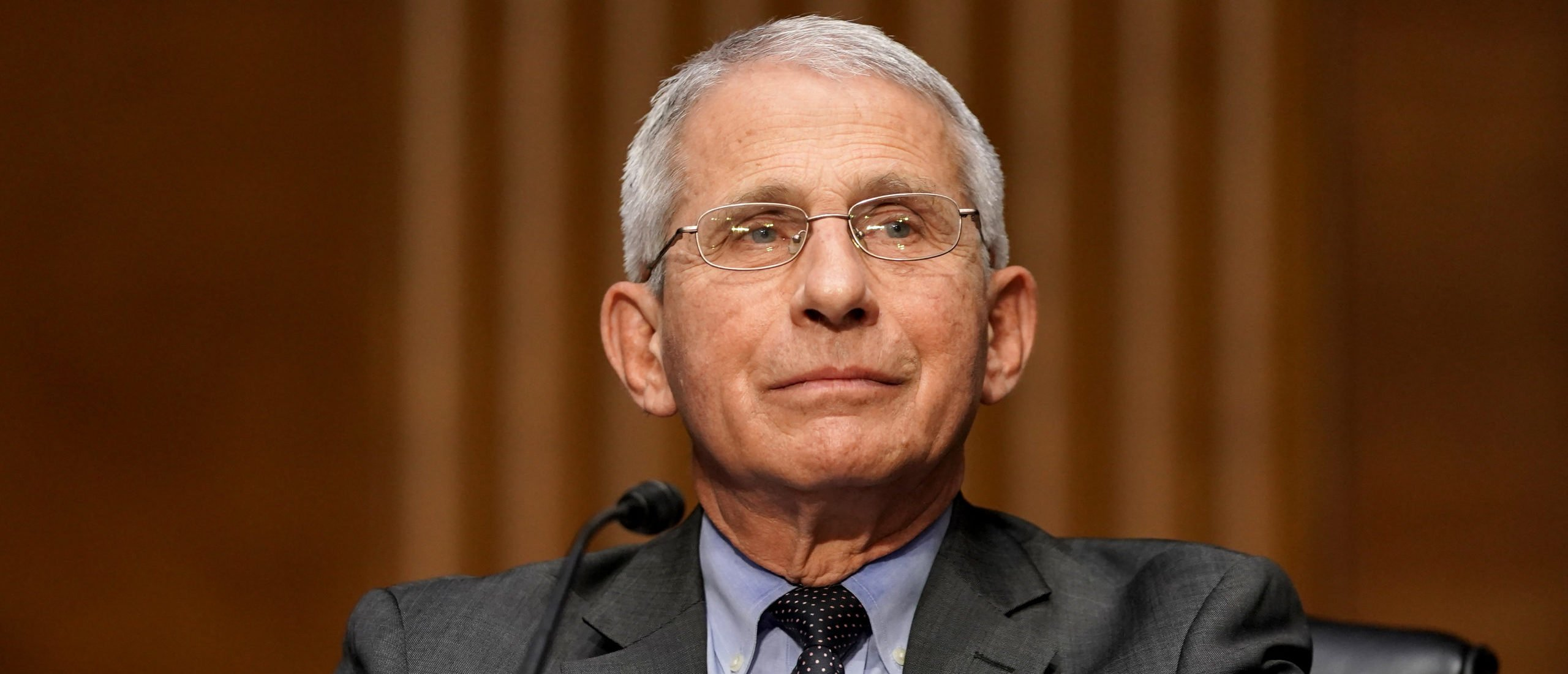 WASHINGTON, DC - MAY 11: Dr. Anthony Fauci, director of the National Institute of Allergy and Infectious Diseases, speaks during a Senate Health, Education, Labor and Pensions Committee hearing to discuss the ongoing federal response to COVID-19 on May 11, 2021 in Washington, DC. (Photo by Greg Nash-Pool/Getty Images)