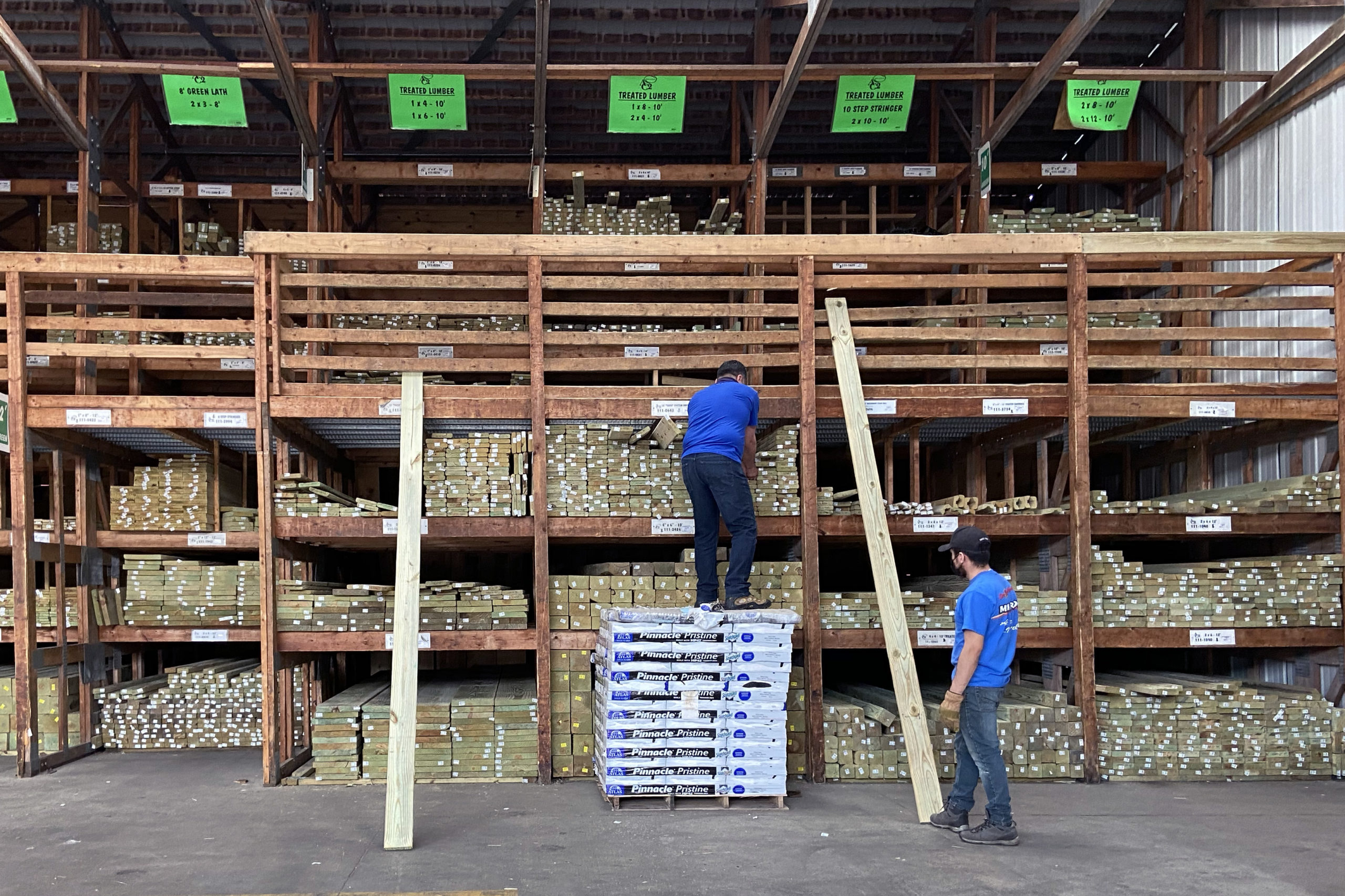 Lumber prices have more than tripled since last April. (Scott Olson/Getty Images)
