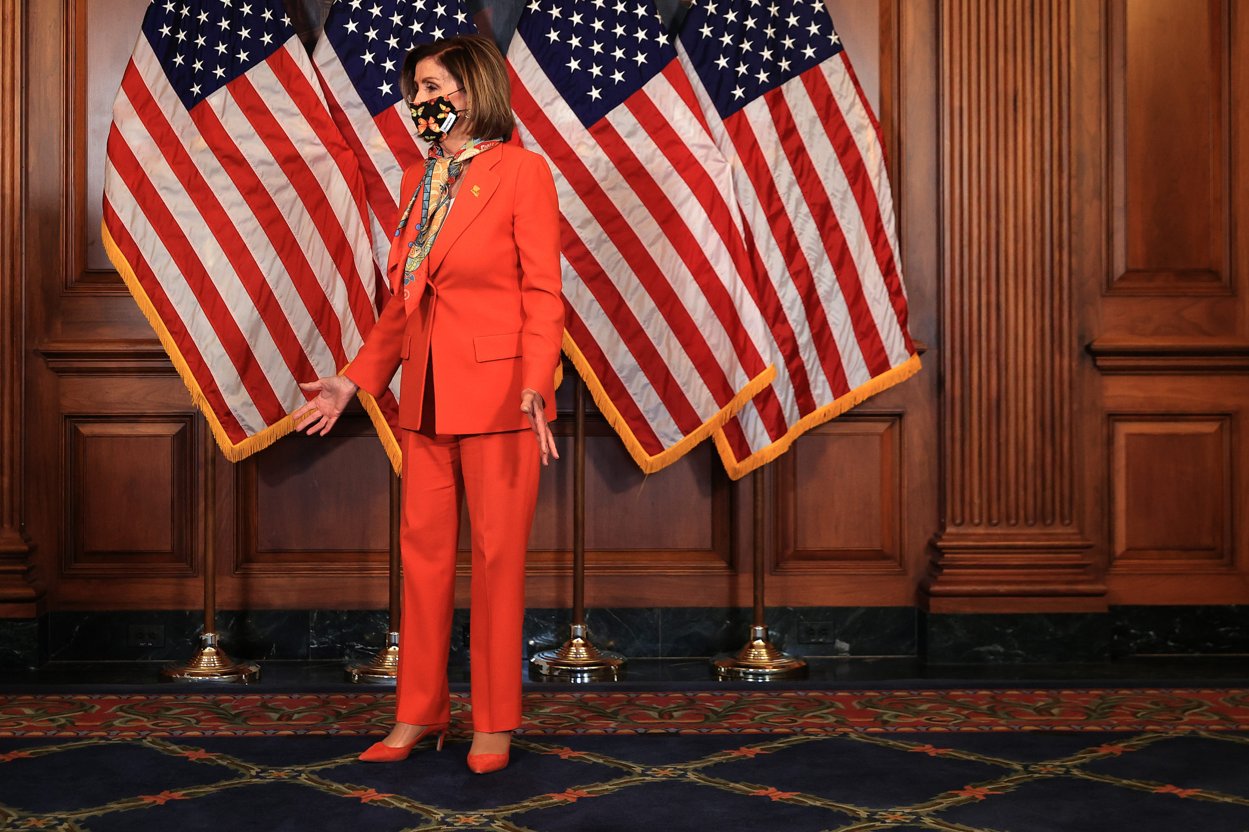 House Speaker Nancy Pelosi pictured at the U.S. Capitol on Tuesday. (Chip Somodevilla/Getty Images)