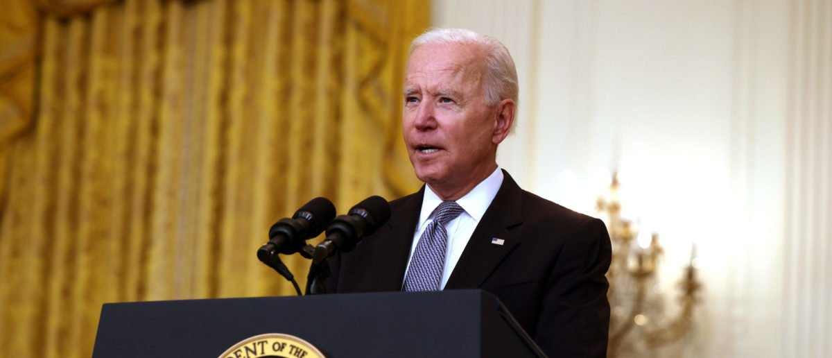 WASHINGTON, DC - MAY 17: U.S. President Joe Biden gives an update on his administration's COVID-19 response and vaccination program in the East Room of the White House on May 17, 2021 in Washington, DC. Biden announced that the U.S. will send 20 million doses of Pfizer, Moderna and Johnson & Johnson COVID-19 vaccines abroad on top of the 60 million AstraZeneca doses already planned for export. Anna Moneymaker/Getty Images