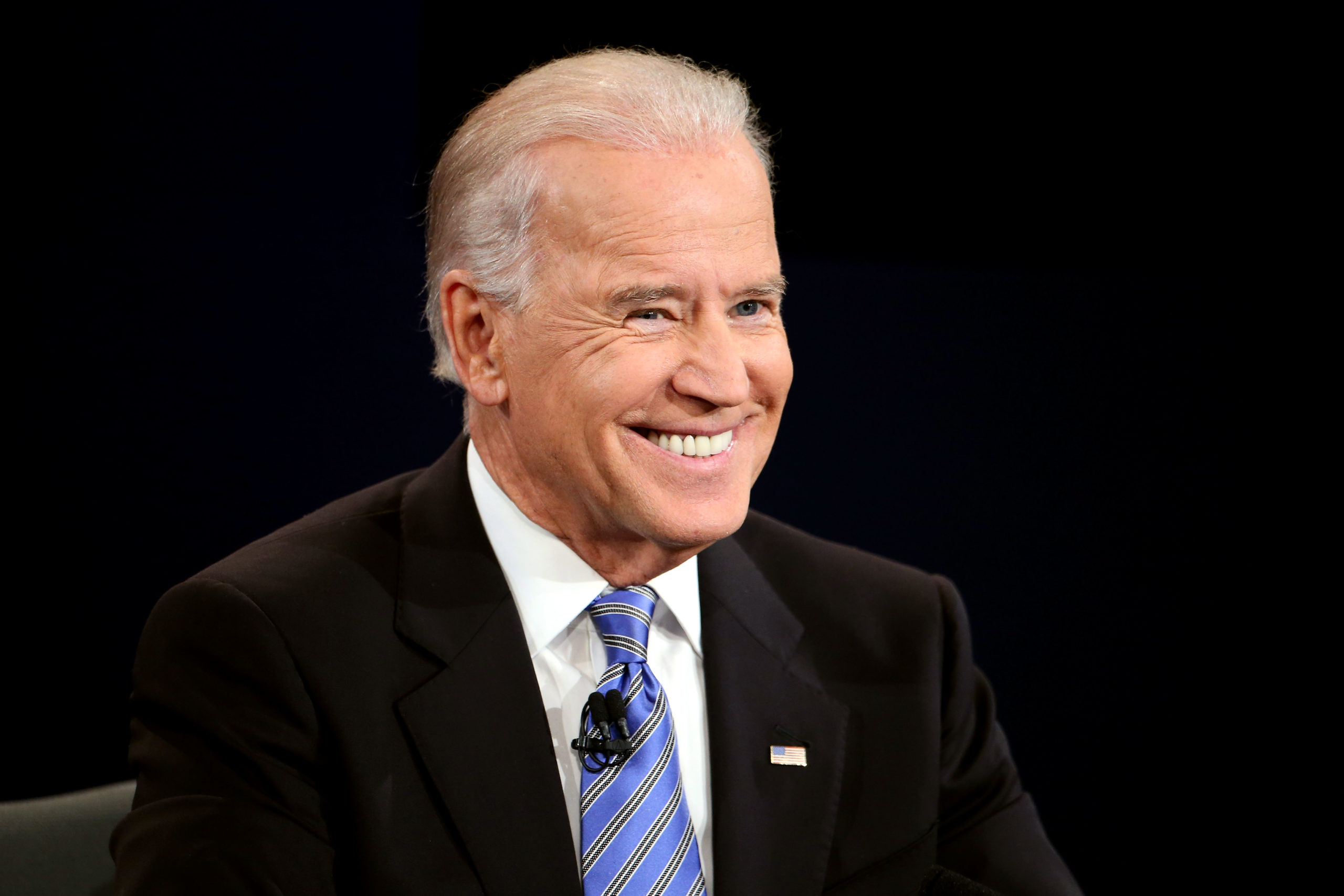 U.S. Vice President Joe Biden smiles during the vice presidential debate at Centre College October 11, 2012 in Danville, Kentucky. This is the second of four debates during the presidential election season and the only debate between the vice presidential candidates before the closely-contested election November 6. (Photo by Chip Somodevilla/Getty Images)