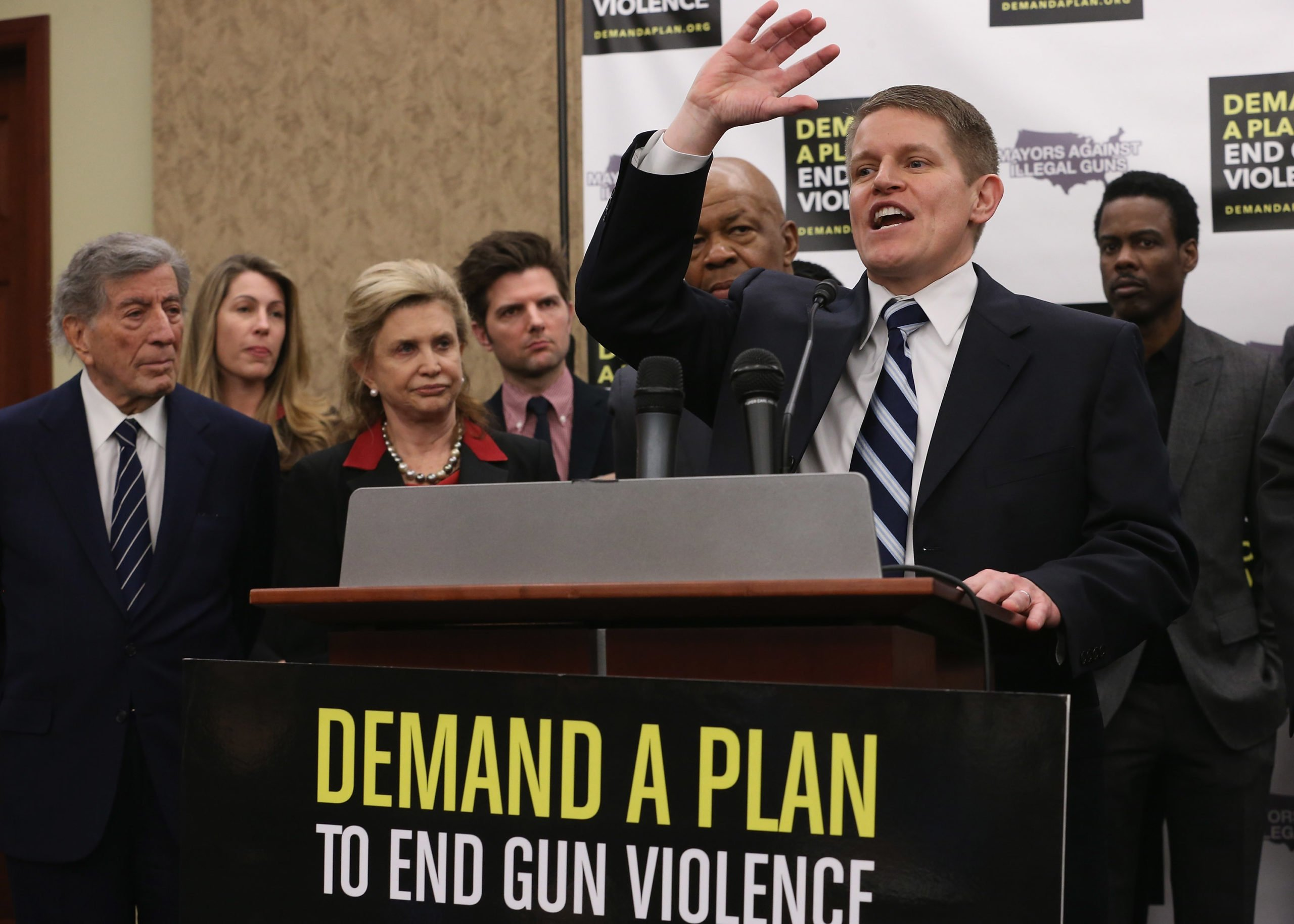 President Joe Bidens nominee to lead the ATF, David Chipman, speaks during a press conference on gun control in 2013. (Chip Somodevilla/Getty Images)