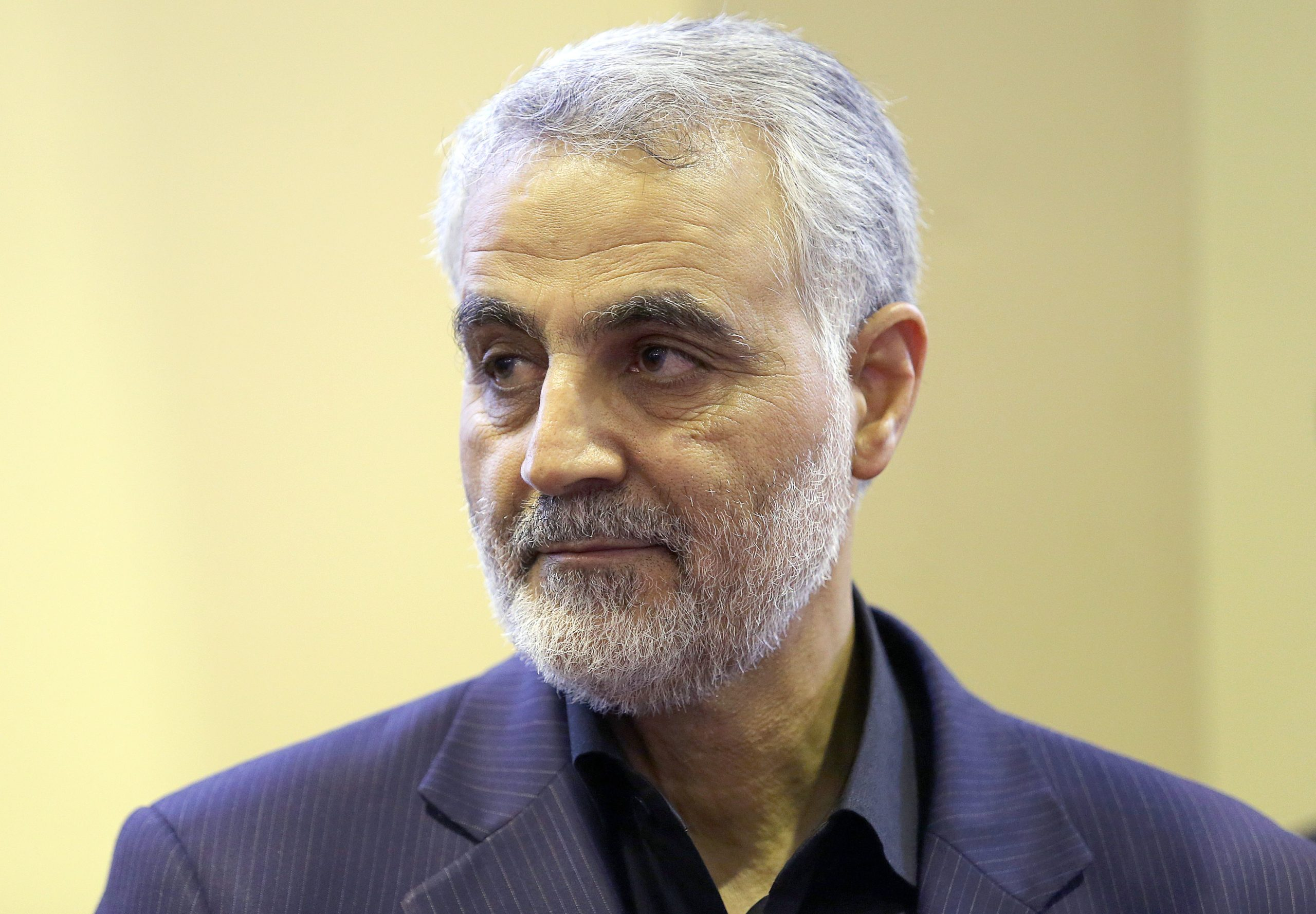 (FILES) In this picture taken on September 14, 2013, the commander of the Iranian Revolutionary Guard's Quds Force, Gen. Qassem Soleimani, is seen as people pay their condolences following the death of his mother in Tehran. (MEHDI GHASEMI/ISNA/AFP via Getty Images)