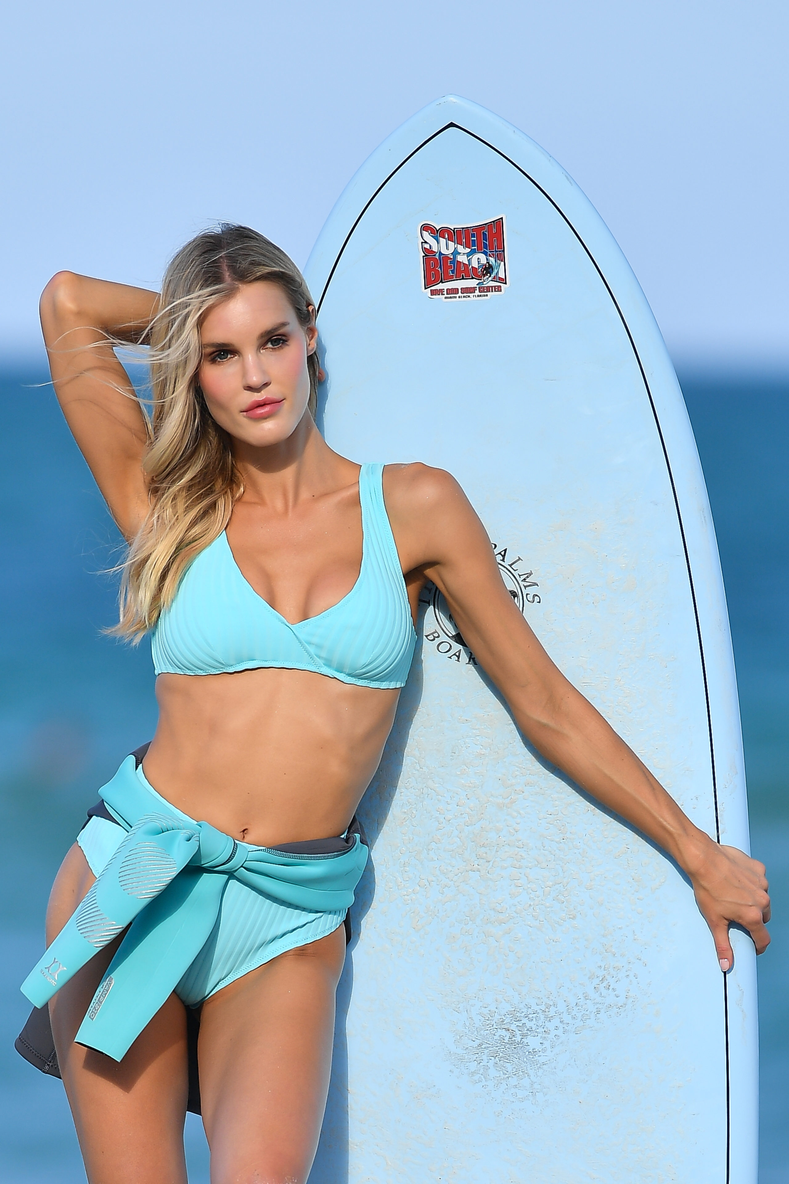 Model Joy Corrigan Location: Miami Beach, Florida Photo Credit: Robert O'Neil/SplashNews.com