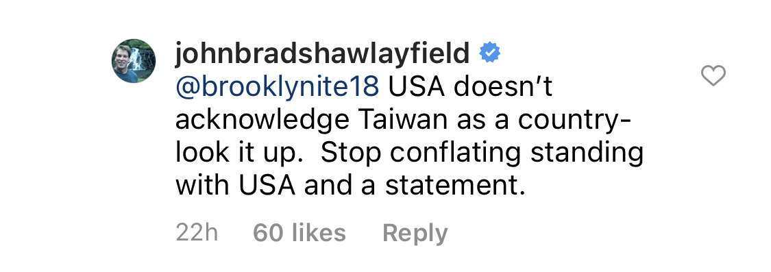 John Bradshaw Layfield Taiwan Comment