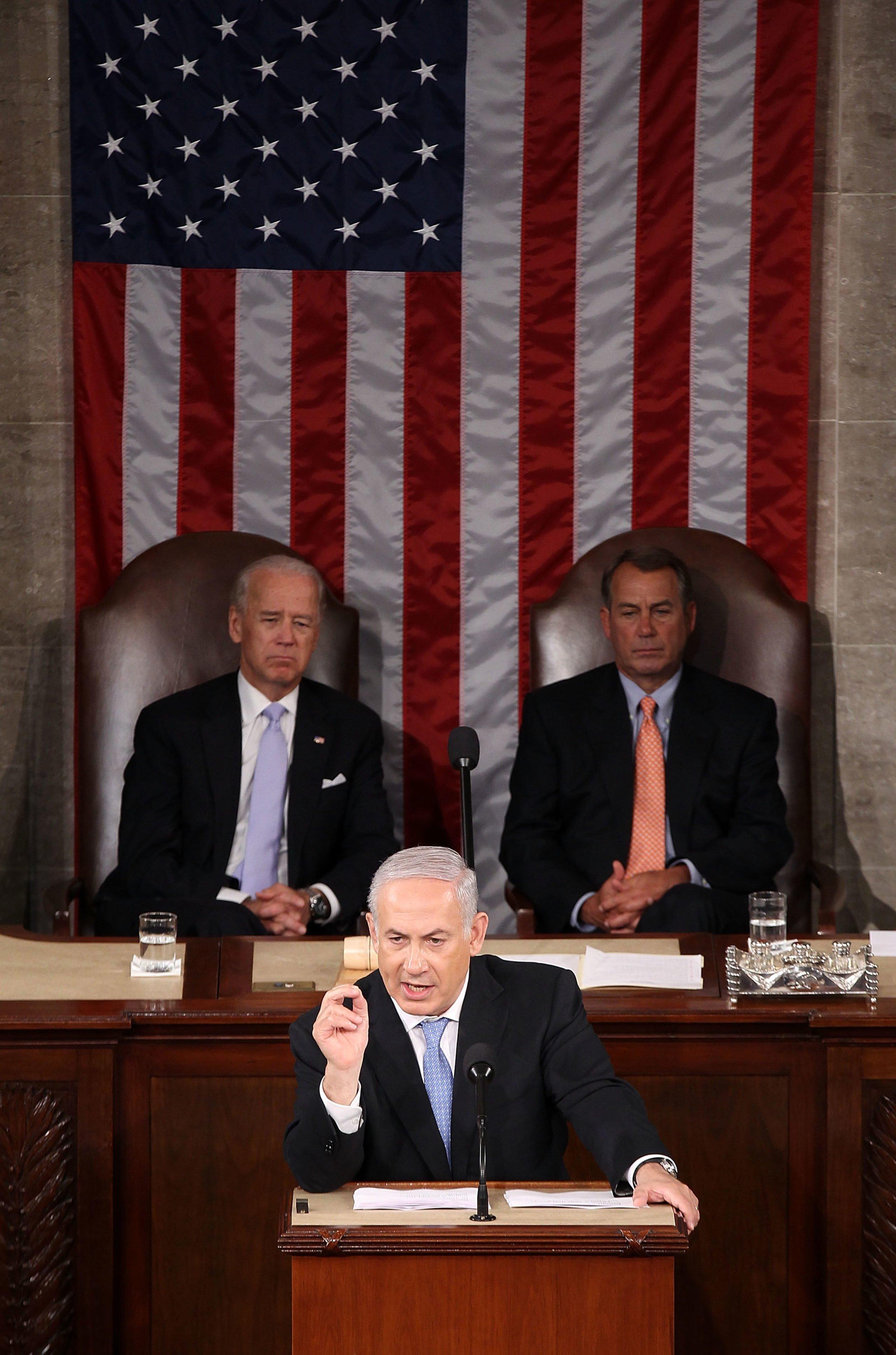 Israeli Prime Minister Benjamin Netanyahu Addresses U.S. Congress