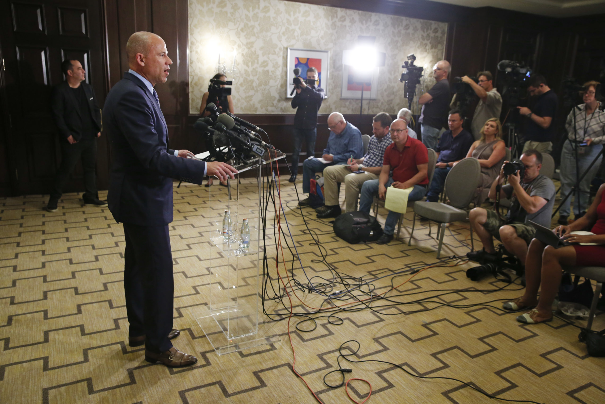 Attorney Michael Avenatti speaks during a news conference on July 15, 2019 in Chicago, Illinois. (Nuccio DiNuzzo/Getty Images)