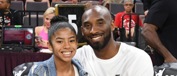 LAS VEGAS, NEVADA - JULY 27: Gianna Bryant and her father, former NBA player Kobe Bryant, attend the WNBA All-Star Game 2019 at the Mandalay Bay Events Center on July 27, 2019 in Las Vegas, Nevada. NOTE TO USER: User expressly acknowledges and agrees that, by downloading and or using this photograph, User is consenting to the terms and conditions of the Getty Images License Agreement. (Photo by Ethan Miller/Getty Images)