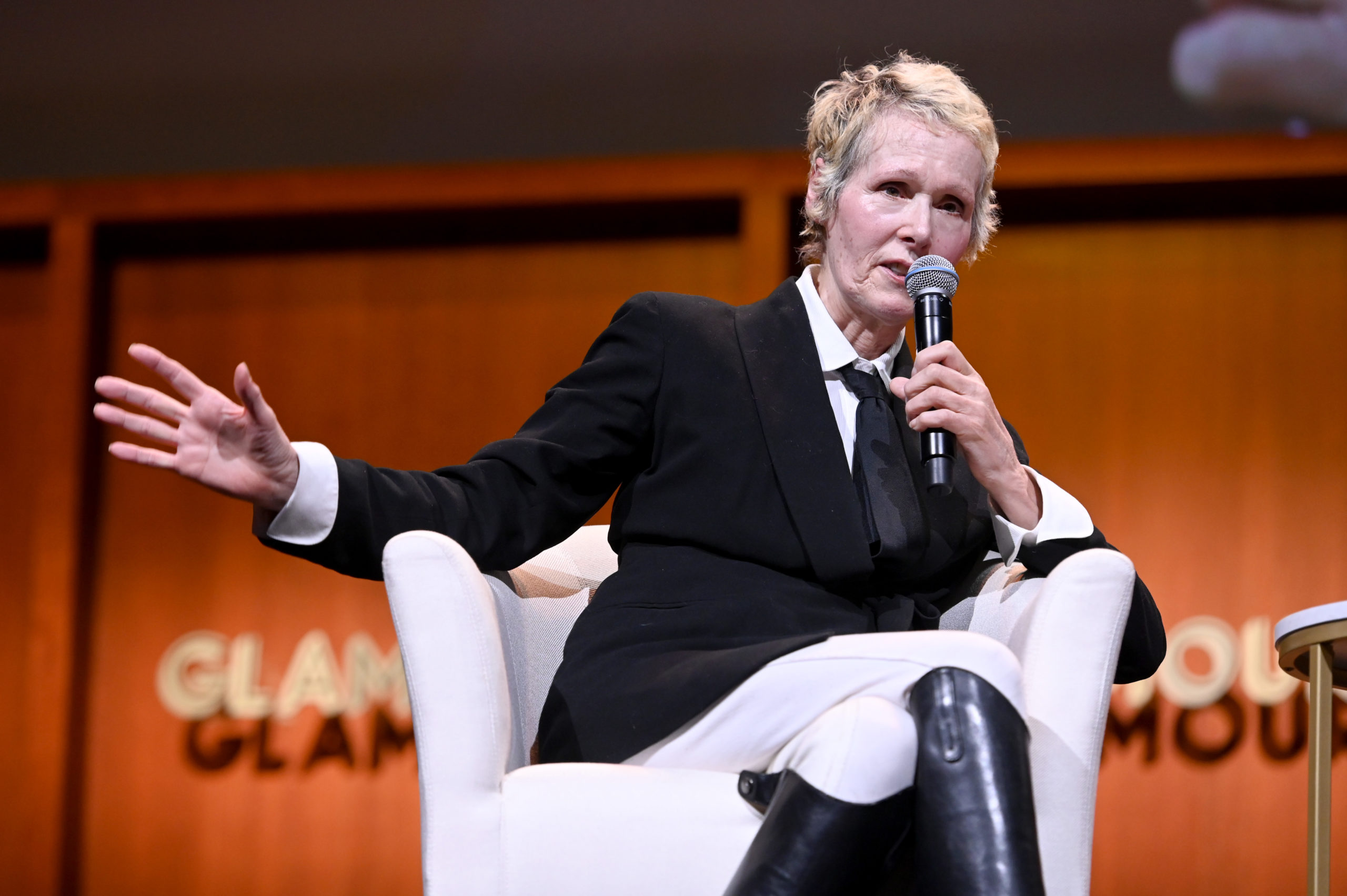 E. Jean Carroll speaks onstage during the How to Write Your Own Life panel at the 2019 Glamour Women Of The Year Summit at Alice Tully Hall on November 10, 2019 in New York City. (Ilya S. Savenok/Getty Images for Glamour)