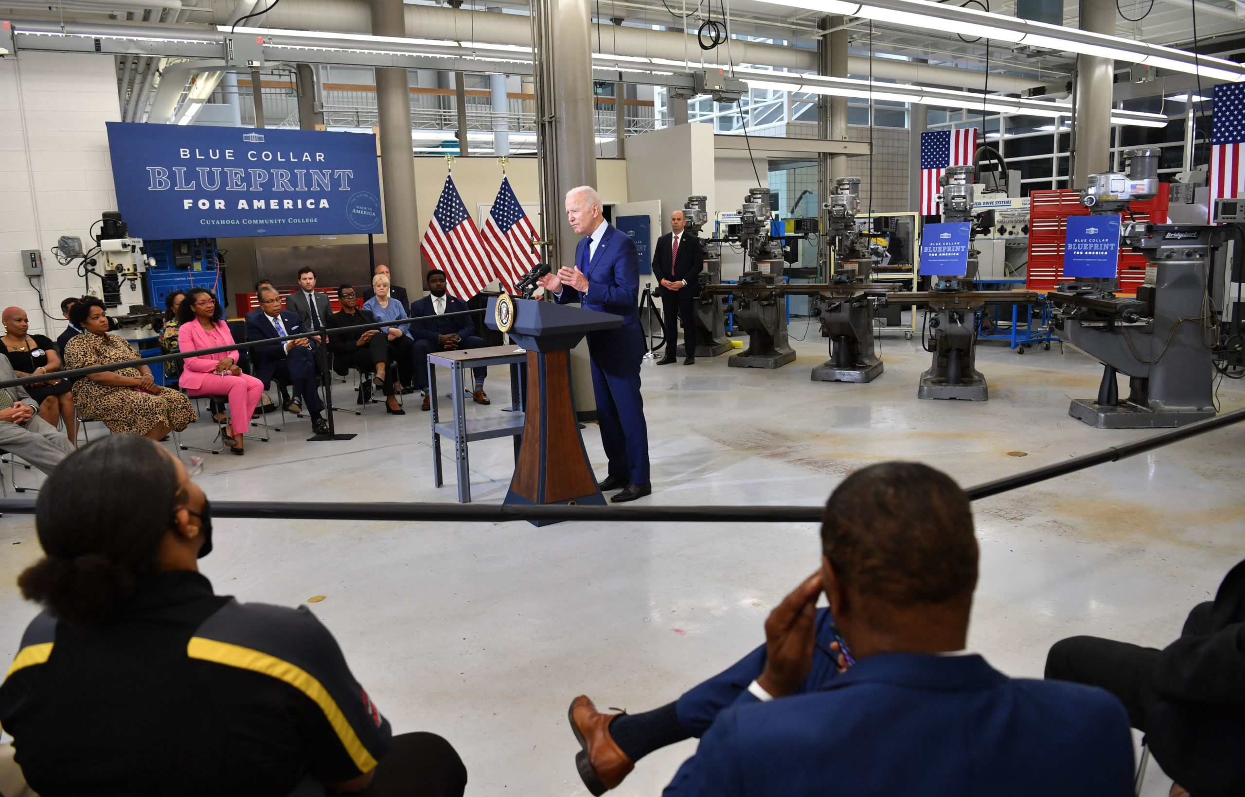 President Joe Biden speaks about the economy on May 27 in Cleveland, Ohio. (Nicholas Kamm/AFP via Getty Images)