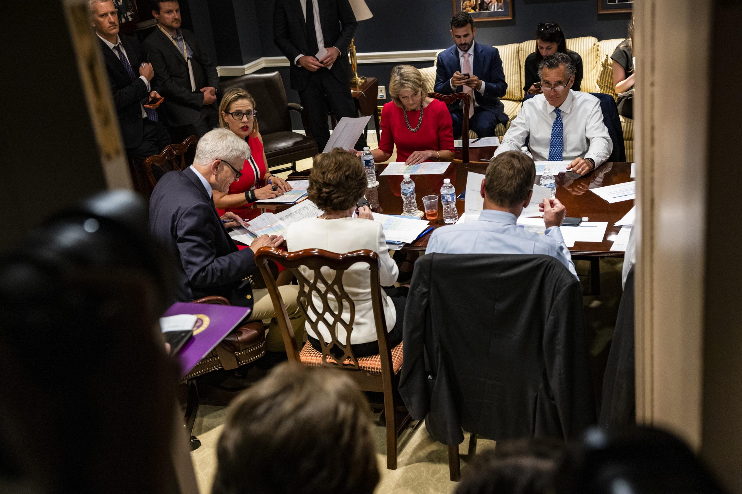 Senators Meet On New Infrastructure Plan After Talks With President Biden Collapse