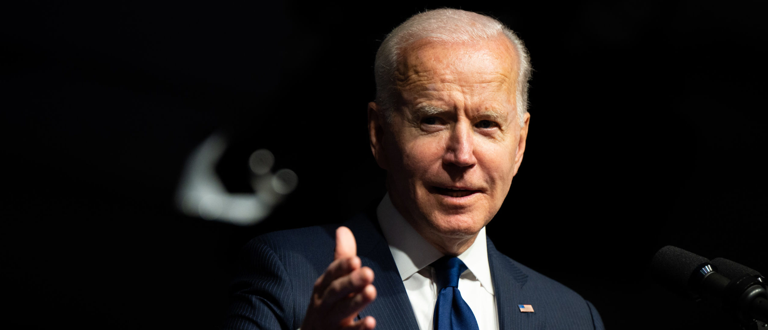 U.S. President Joe Biden speaks at a rally during commemorations of the 100th anniversary of the Tulsa Race Massacre on June 01, 2021 in Tulsa, Oklahoma. (Brandon Bell/Getty Images)